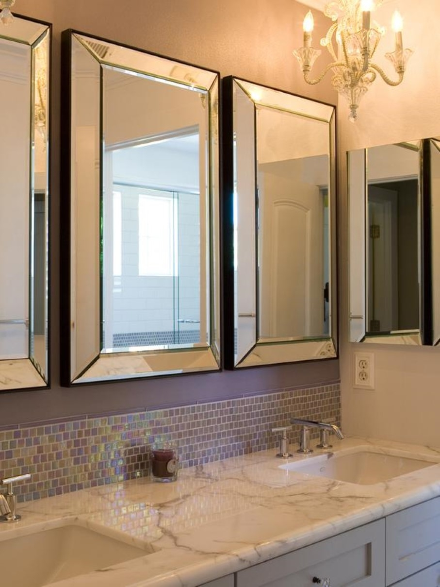 Decorative Triple Vanity Mirrors Bathroom Home Pertaining To Triple Mirrors (View 15 of 15)