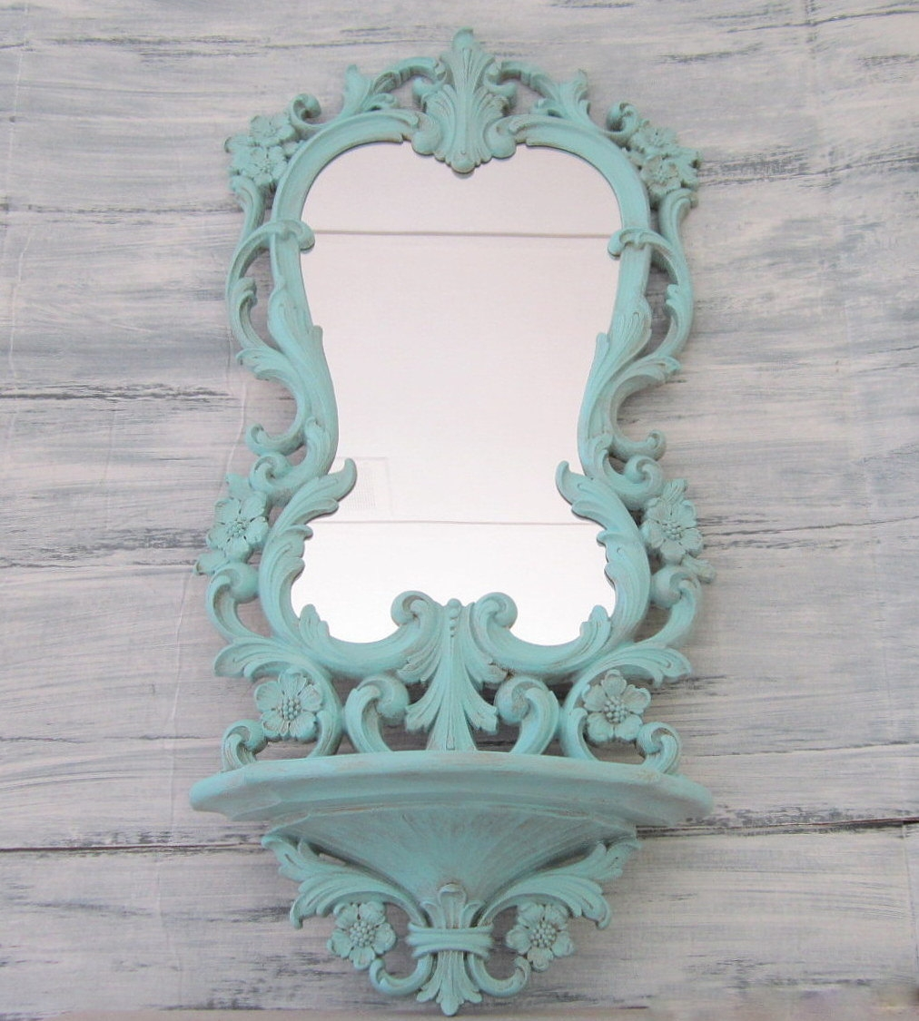 Decorative Vintage Mirrors For Sale French Teal Green Mirror 29 Intended For Large Vintage Mirrors For Sale (Image 5 of 15)