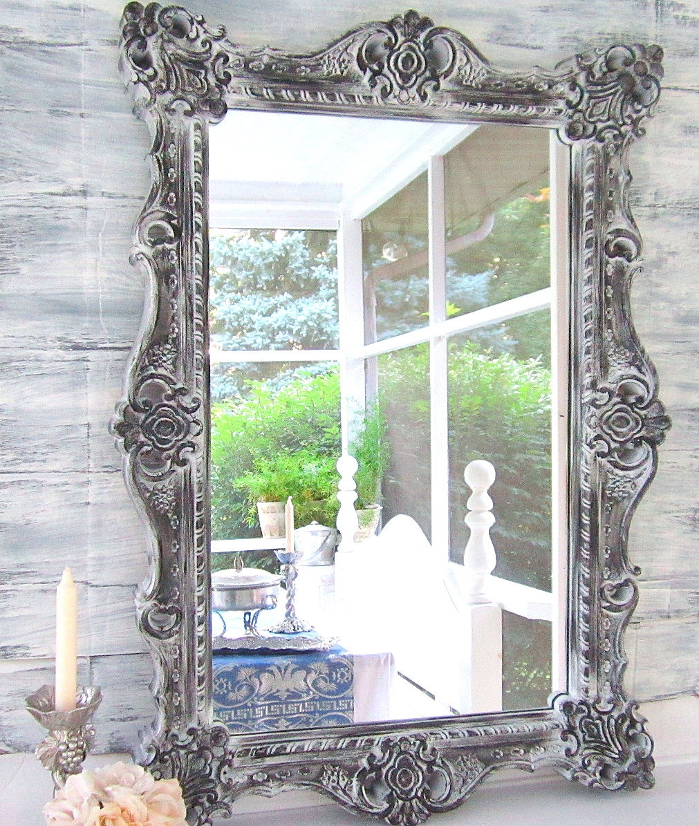 Decorative Vintage Mirrors For Sale Gray Blue Mirror 28×22 With Vintage Mirrors For Sale (Image 8 of 15)