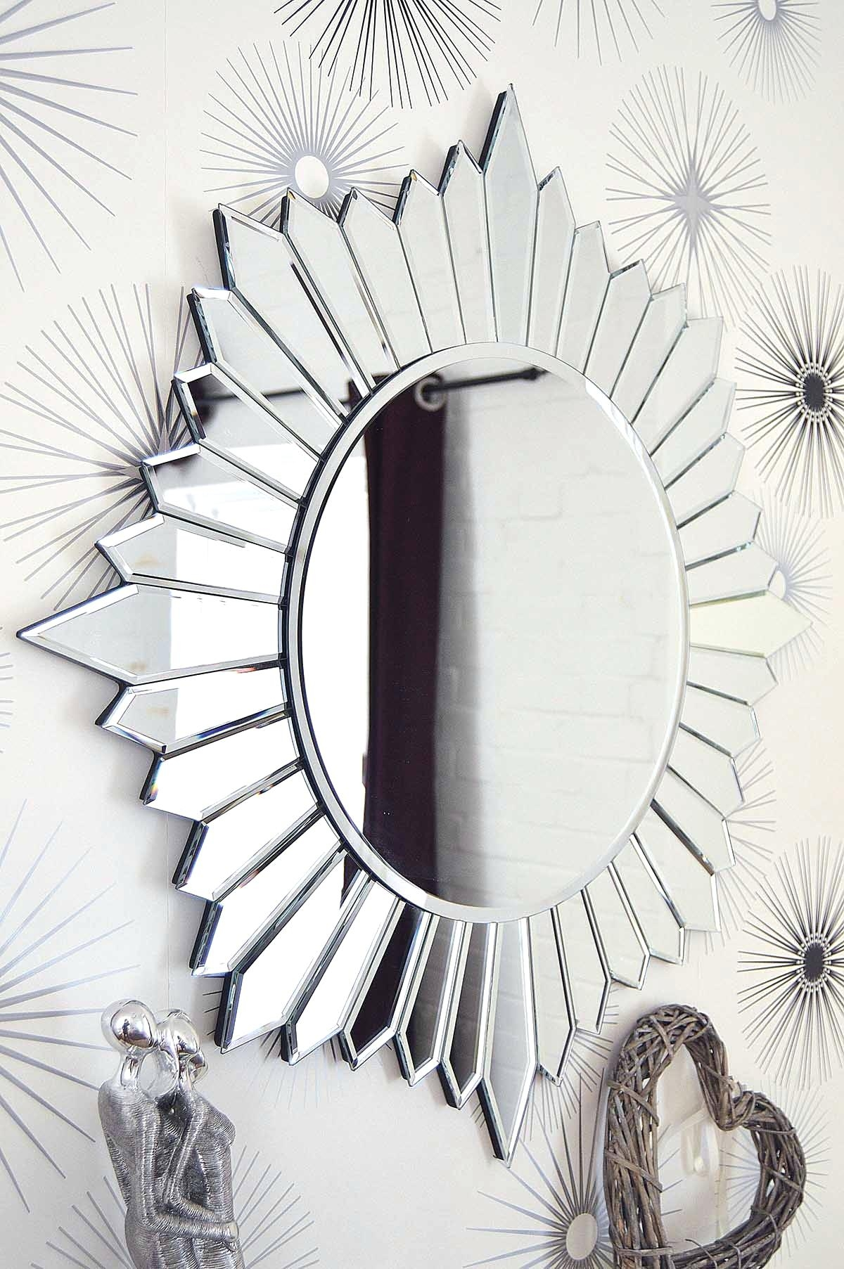 Decorative Wall Mirrors Large Round Bathroom Mirror Modern Home Regarding Round Mirrors Large (Image 6 of 15)
