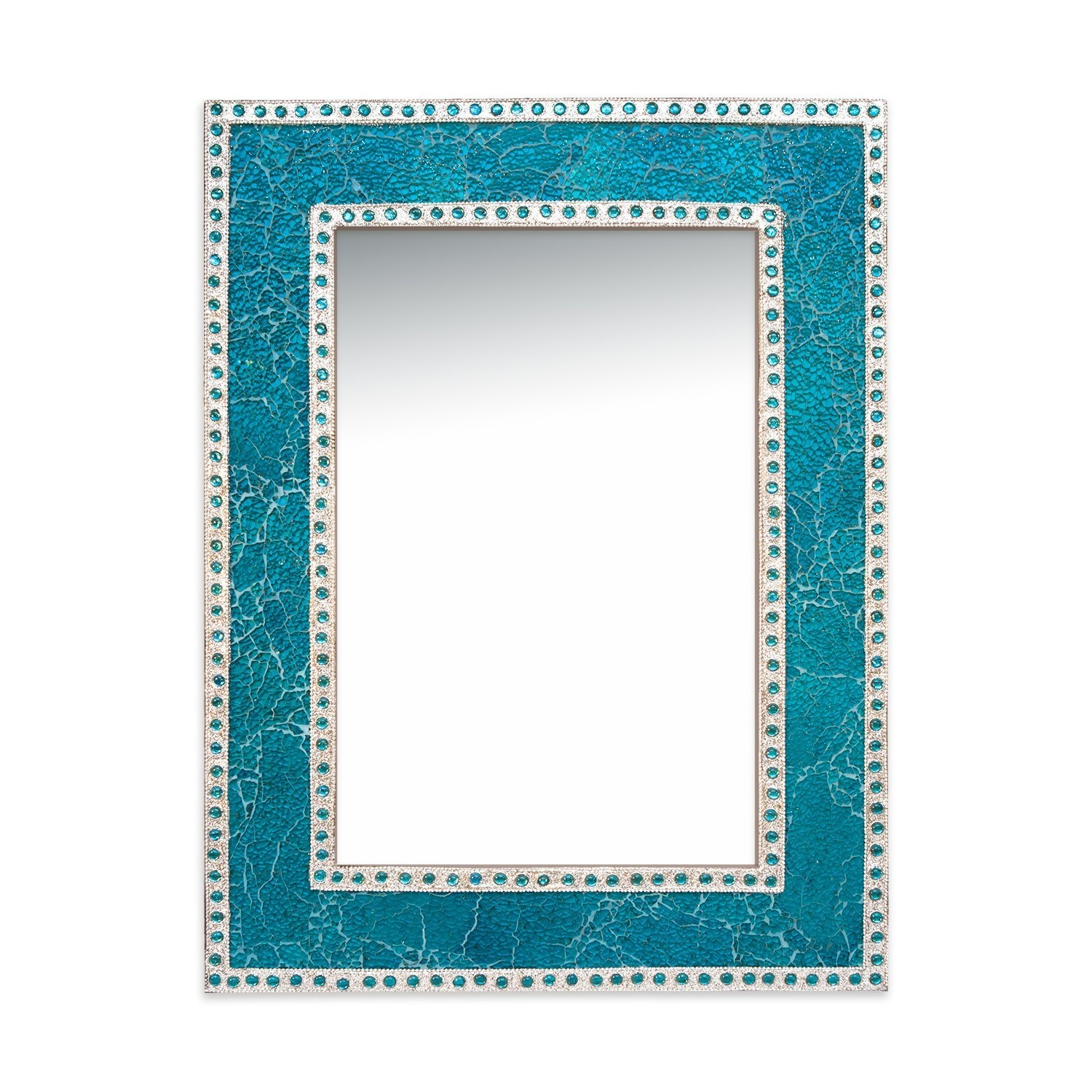 Decorshore Decorative Crackled Glass Mosaic Wall Mirror Reviews Inside Mosaic Wall Mirror (View 2 of 15)