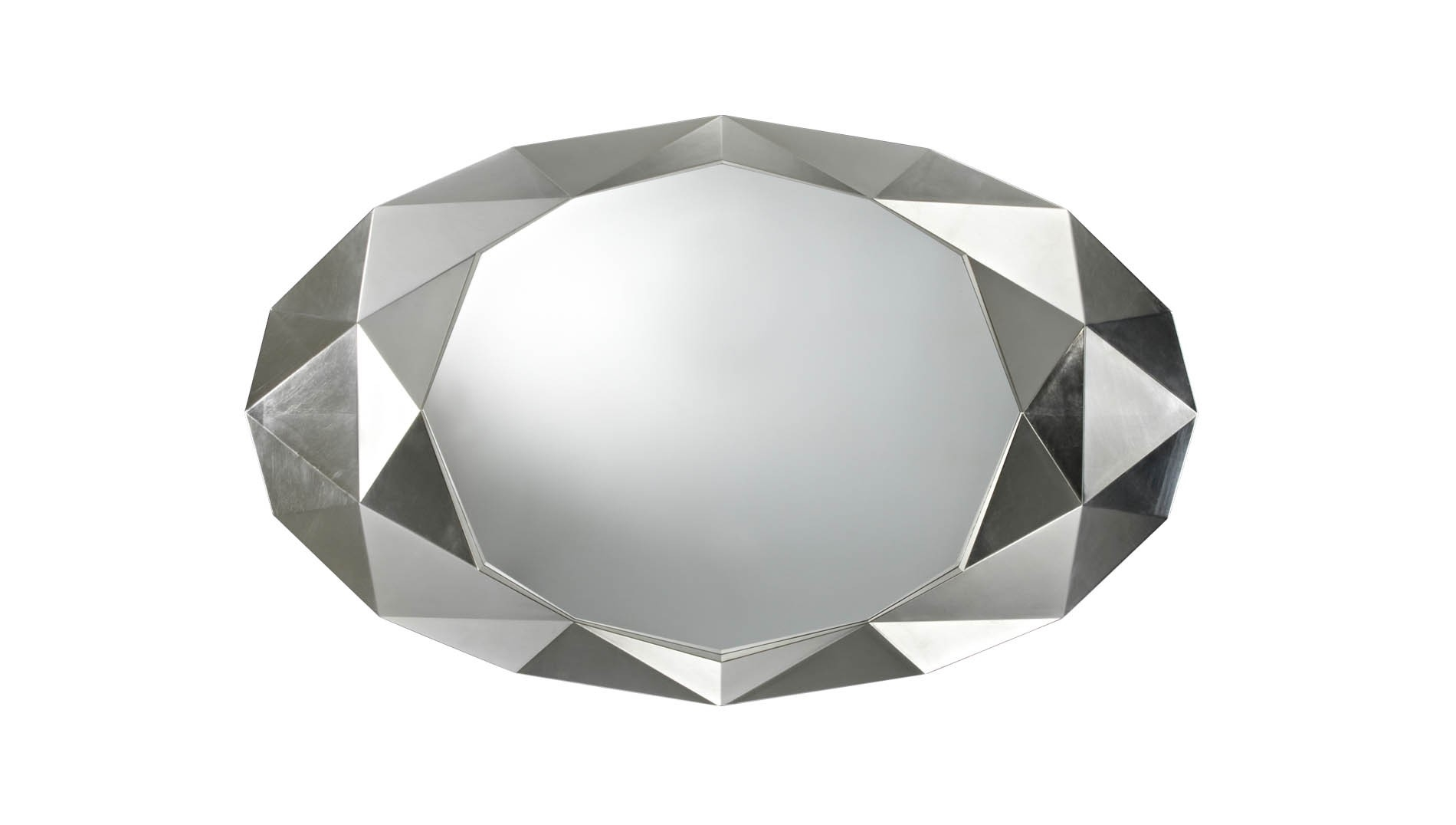 Deknudt Precious Silver Mirror Buy Online At Luxdeco Pertaining To Buy A Mirror (Image 11 of 15)