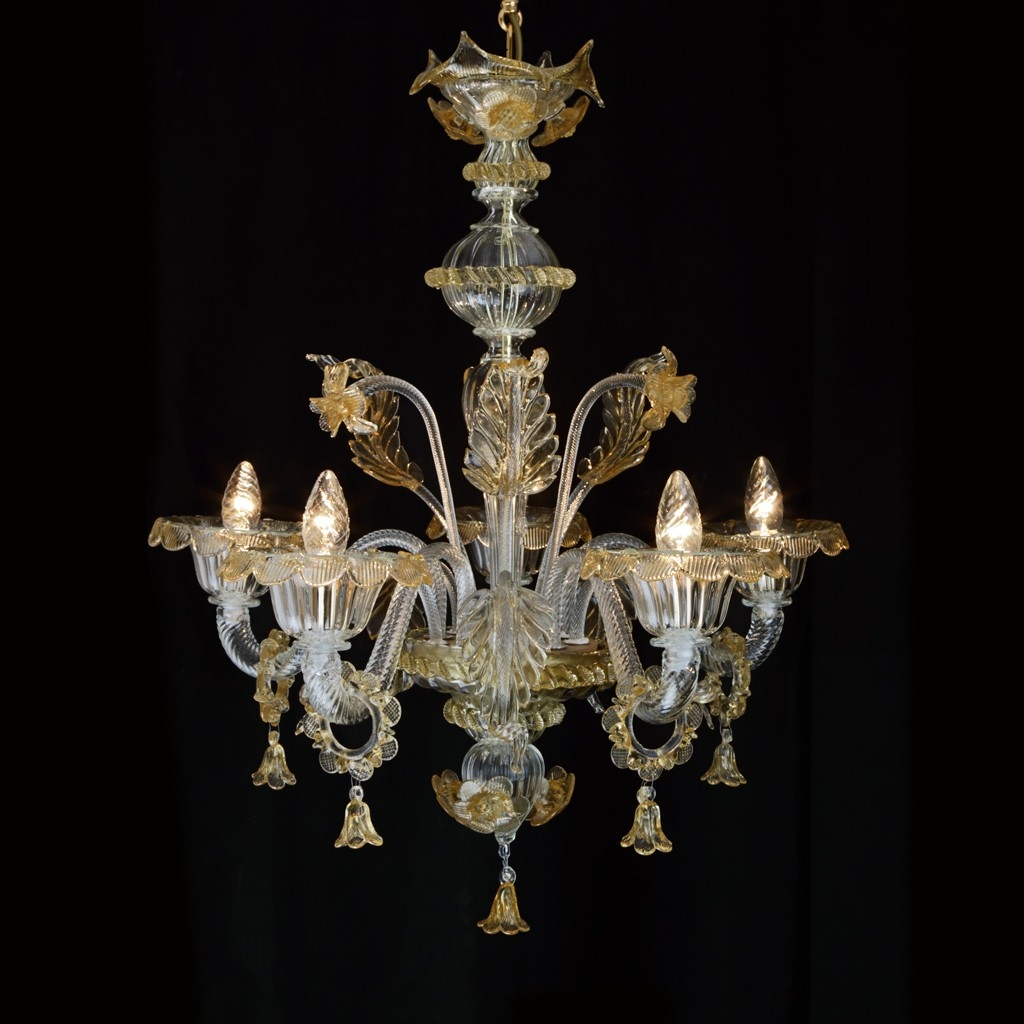 Delfi Murano Glass Chandelier Made In Venice Within Murano Chandelier (Image 5 of 15)