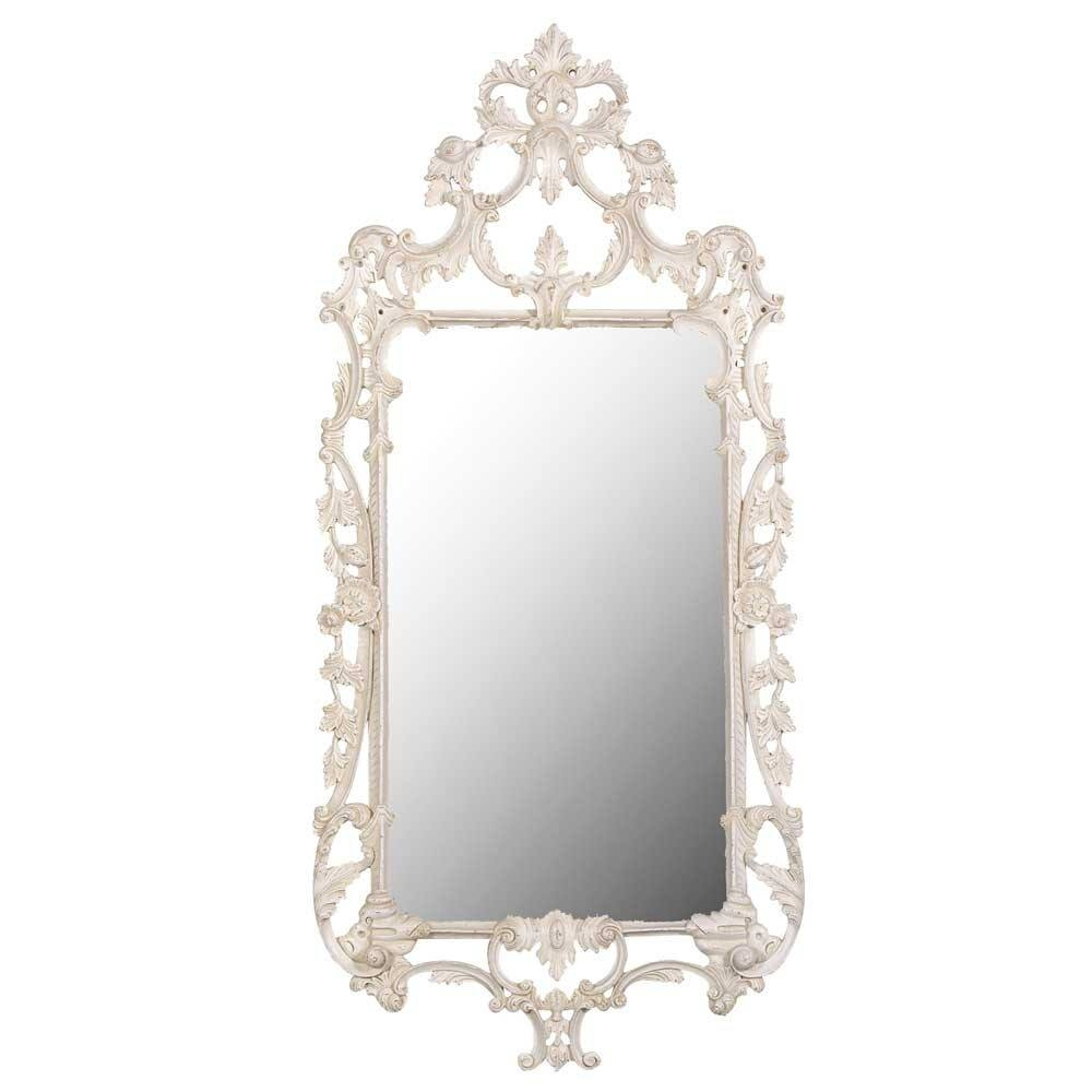 Delphine Distressed Shab Chic Mirror Luxury Mirror Throughout French Chic Mirror (Image 5 of 15)