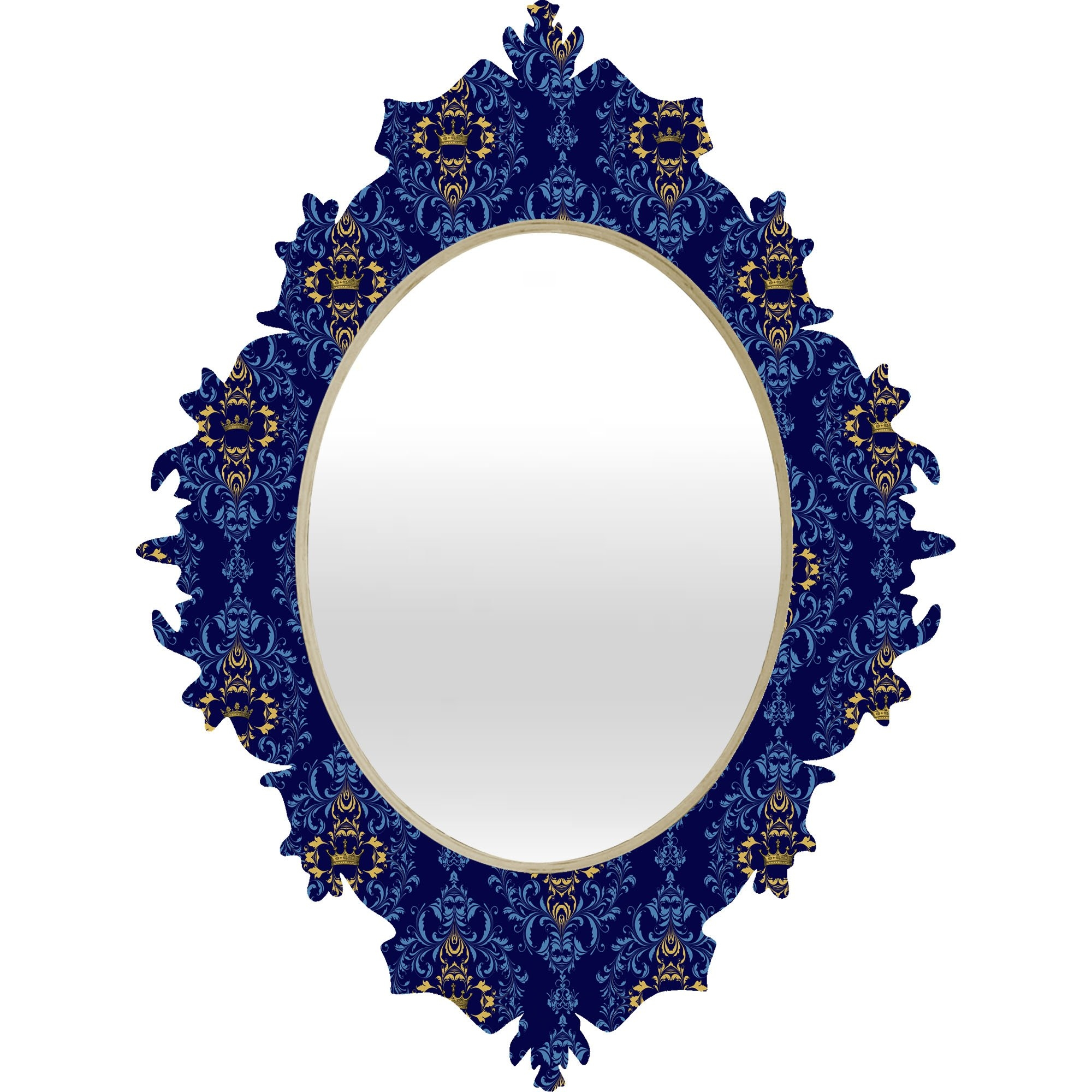 Deny Designs Belle13 Royal Damask Pattern Baroque Mirror Reviews Inside Baroque Mirror Black (Image 10 of 15)