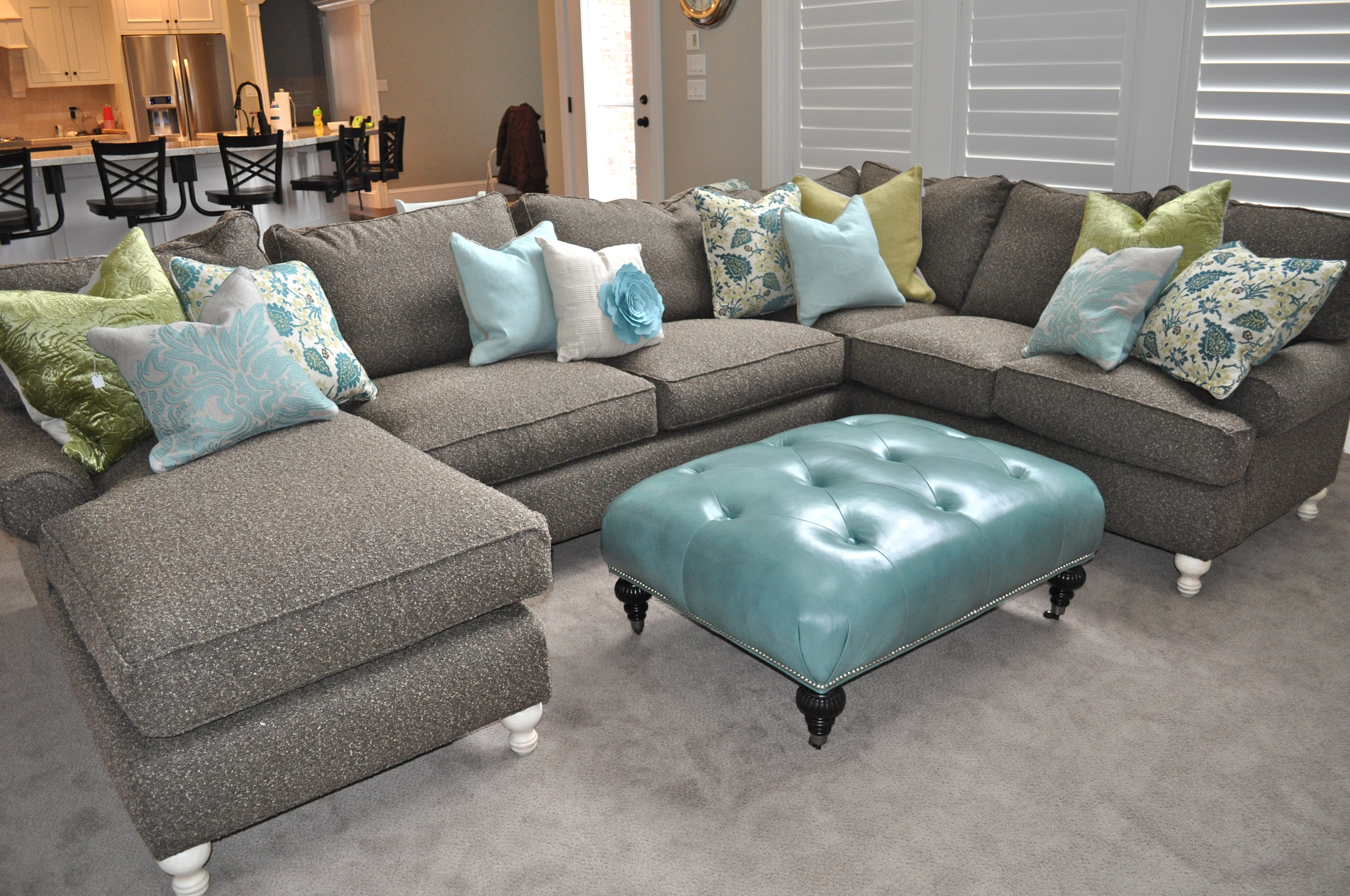 Depiction Of U Shaped Sectional With Chaise Design Furniture Throughout Colorful Sectional Sofas (View 11 of 15)