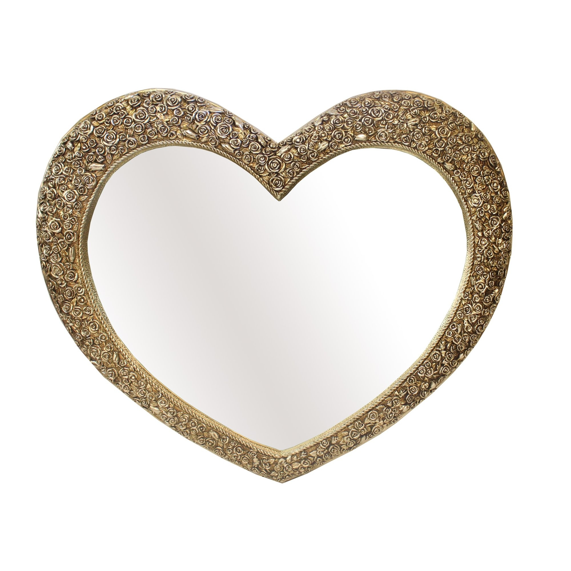 Derrys Rose Heart Wall Mirror Reviews Wayfaircouk For Heart Wall Mirror (Image 4 of 15)