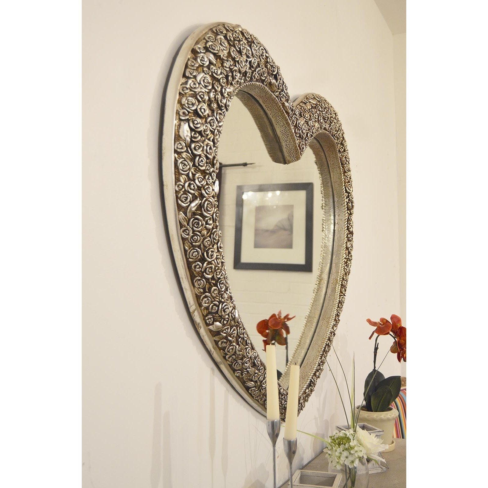 Derrys Rose Heart Wall Mirror Reviews Wayfaircouk With Regard To Heart Wall Mirror (Image 5 of 15)