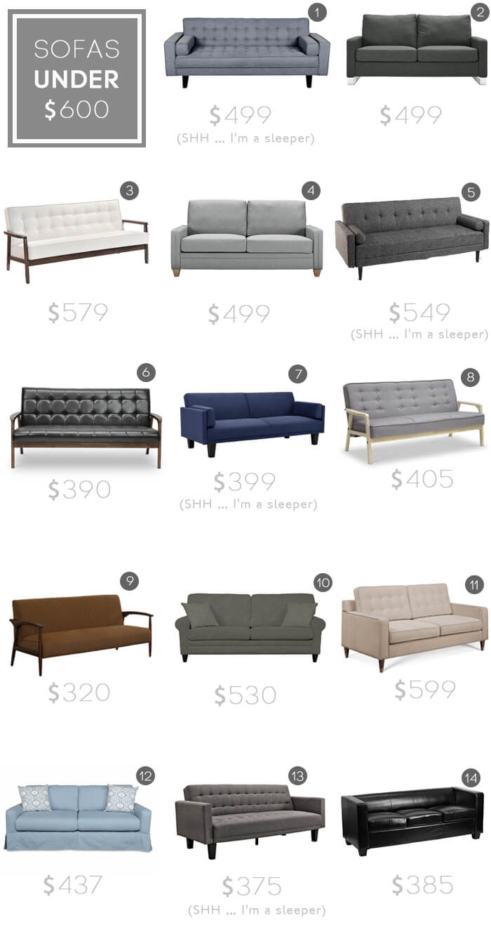 Design Mistake 1 The Generic Sofa Emily Henderson For Affordable Tufted Sofa (Image 7 of 15)
