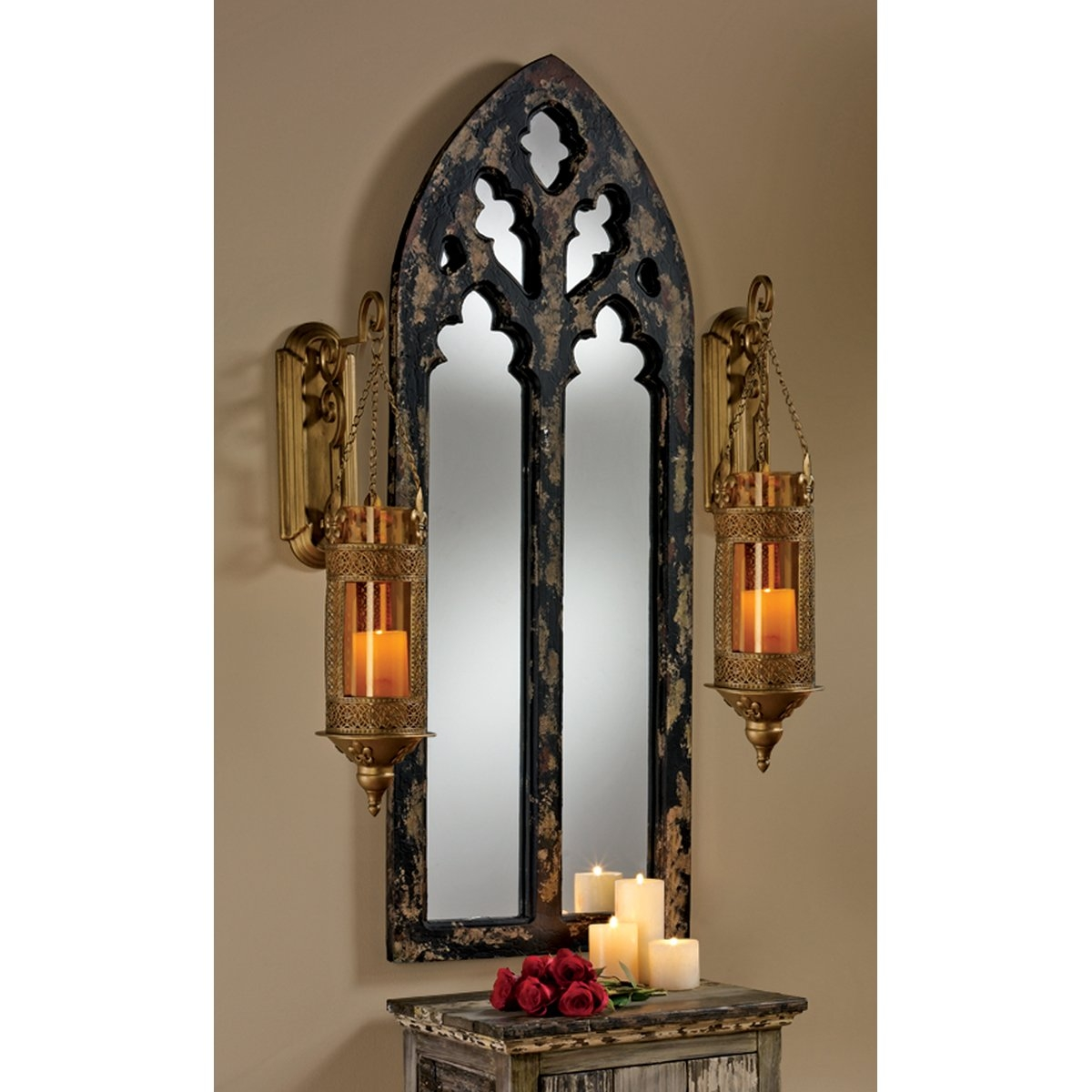 Design Toscano Gothic Cathedral Arch Wall Mirror Reviews Wayfair Regarding Gothic Wall Mirror (Image 6 of 15)
