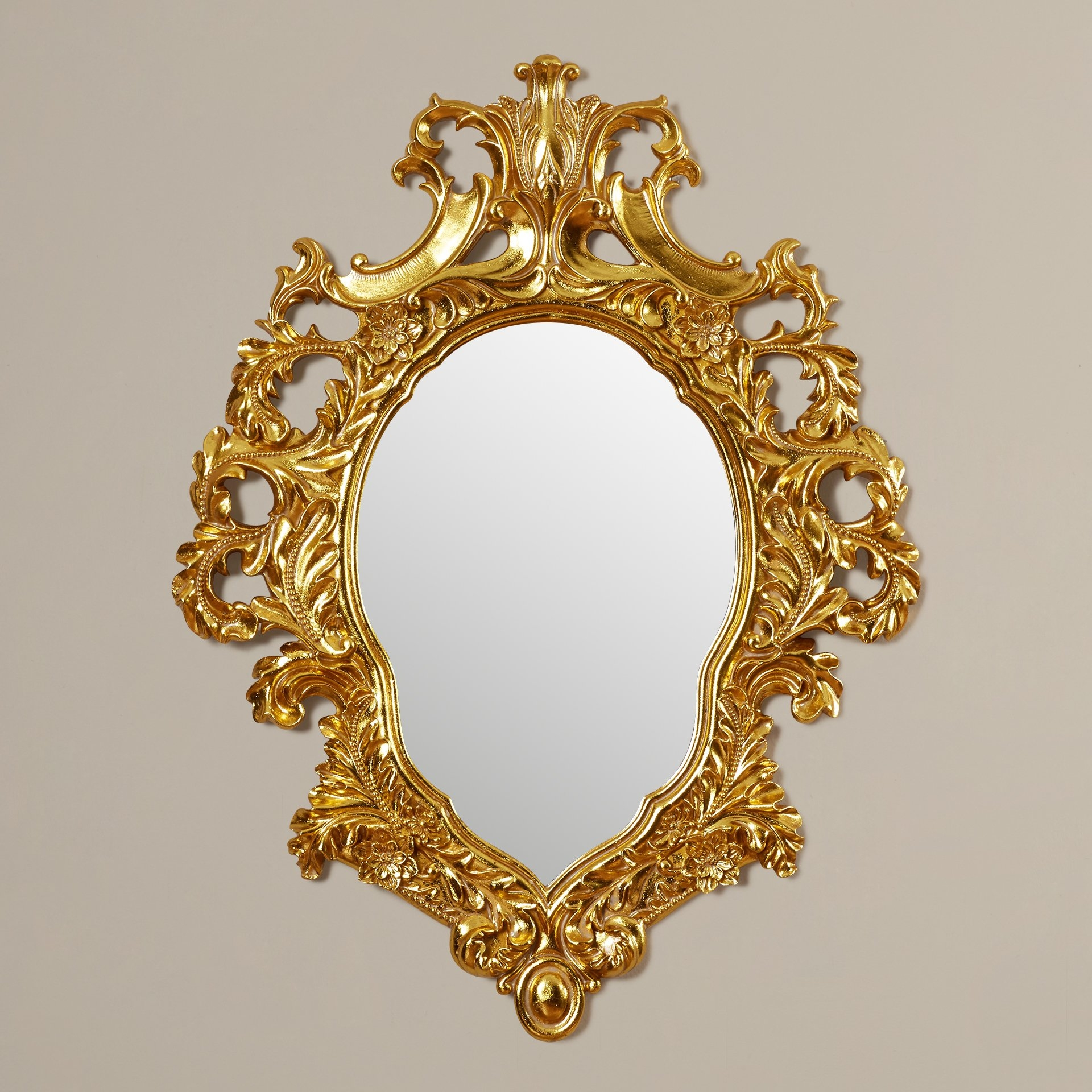 Design Toscano Madame Antoinette Salon Mirror Reviews Wayfair Regarding Rococo Gold Mirror (Image 5 of 15)