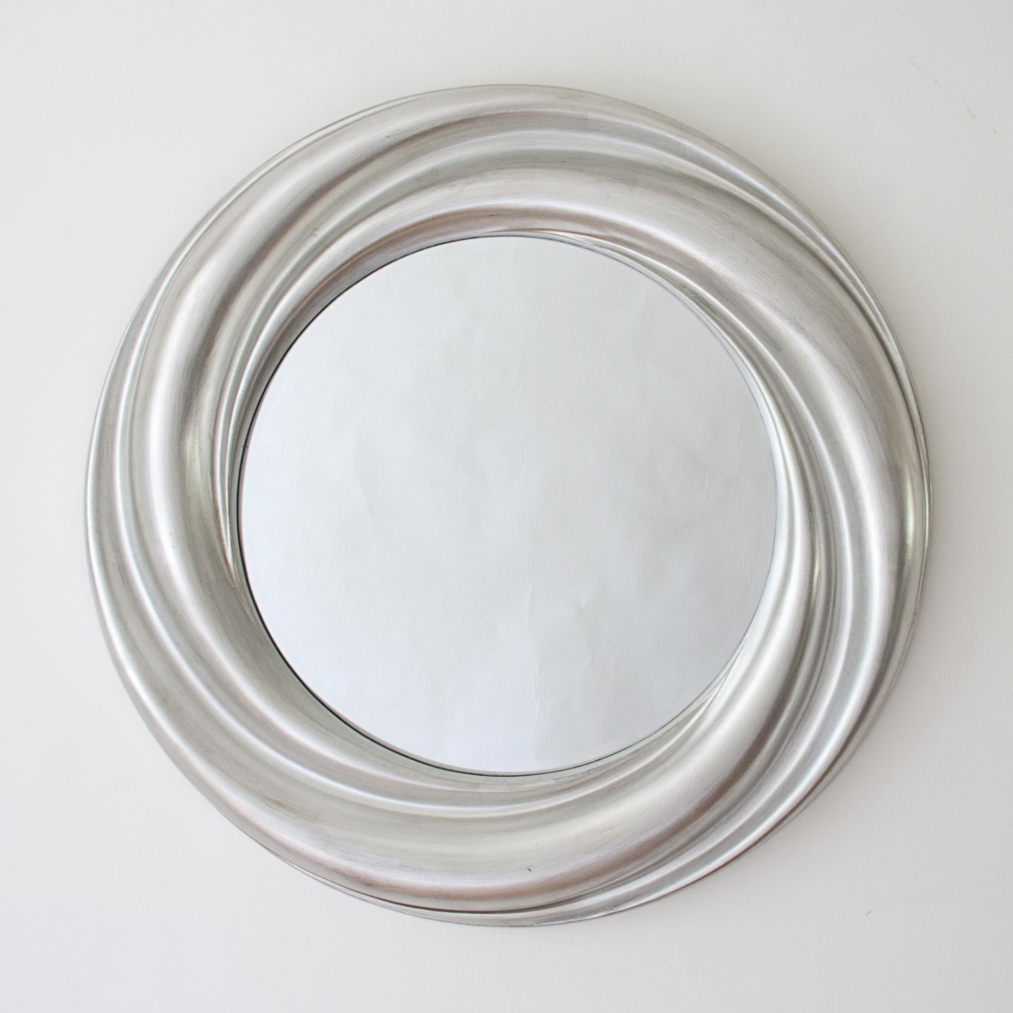 Designer Round Mirrors Howard Elliott Raymus Round Mirror In Pertaining To Silver Round Mirrors (Image 7 of 15)