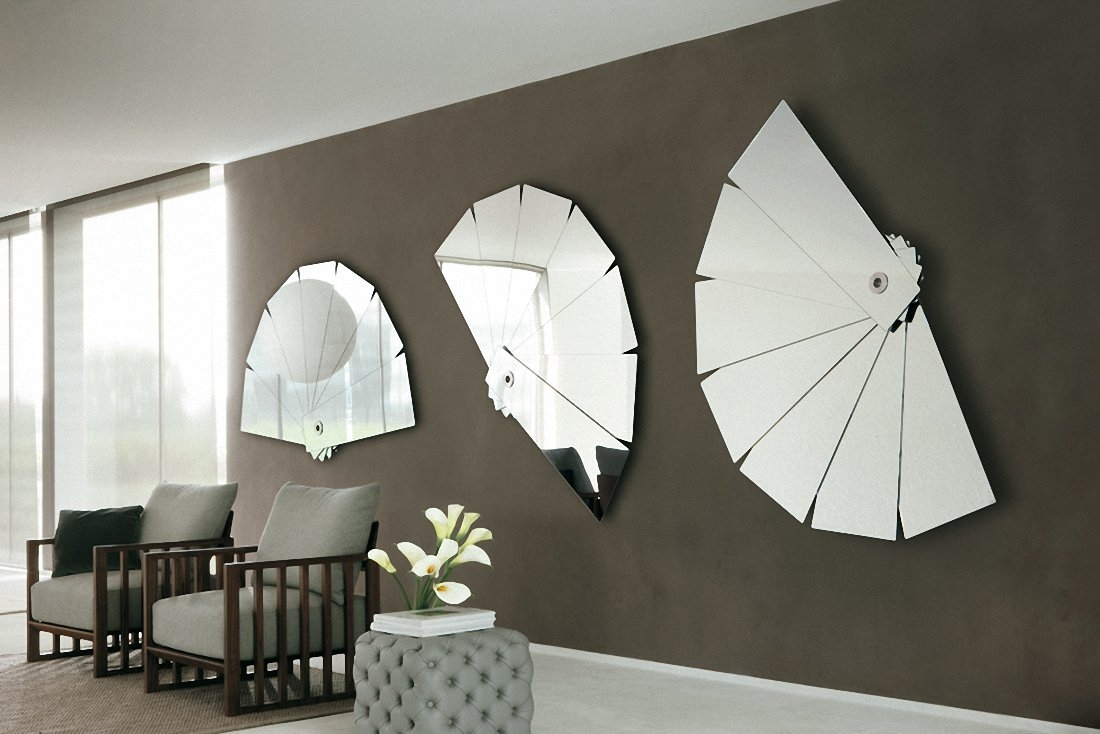 Designer Wall Mirrors Contemporary Wall Mirrors Decorative Large Intended For Contemporary Wall Mirrors (Image 9 of 15)