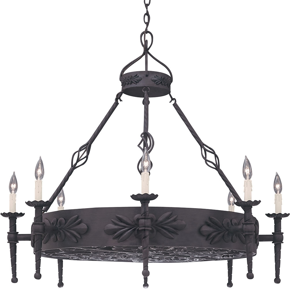 Designers Fountain 9185 Ni Alhambra Natural Iron Chandelier In Iron Chandelier (Image 6 of 15)