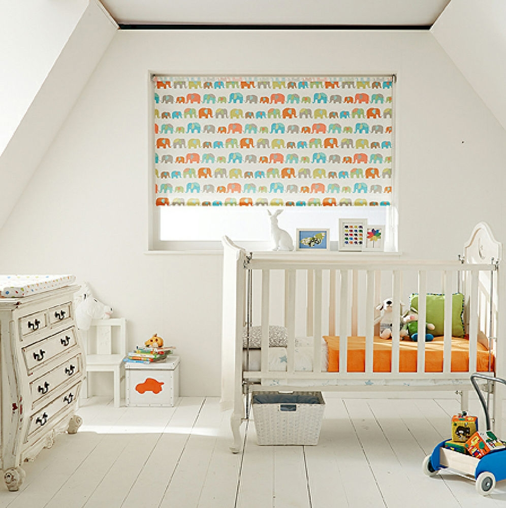 Details About Made To Measure Childrens Nursery Blackout Roller Regarding Orange Roller Blinds (Image 5 of 15)