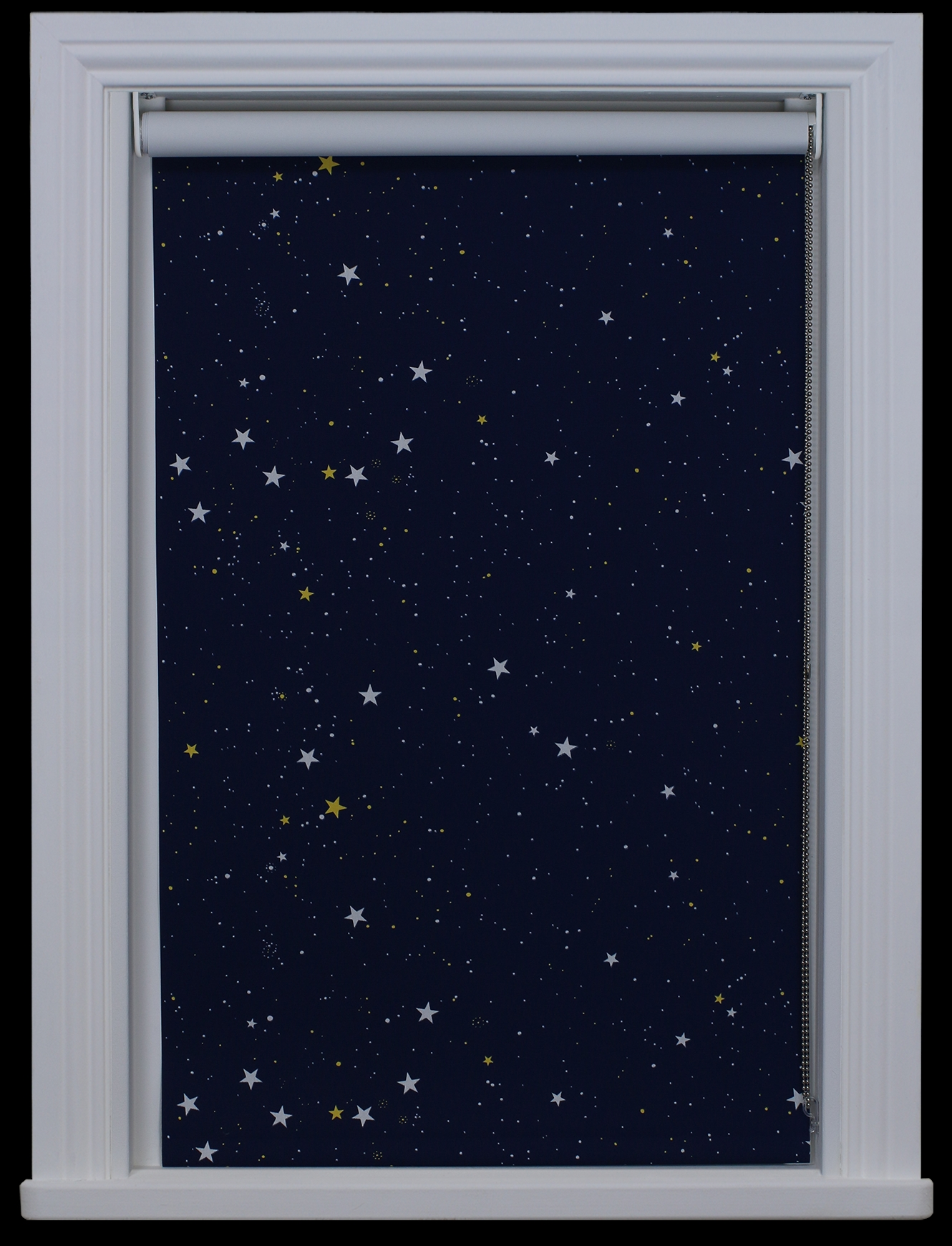 Details About Made To Measure Stars Navy Night Sky Blackout Intended For Blackout Thermal Blinds (Image 6 of 15)