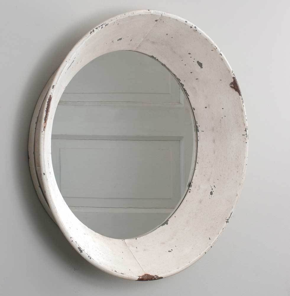 Details About New Dutch Round Rustic Shab Chic Tin Wall Mirror Within Shabby Chic Round Mirror (Image 5 of 15)