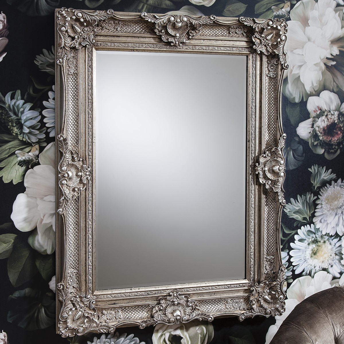 Devere Baroque Mirror From 999999 Luxury Wall Mirrors With Regard To Silver Baroque Mirror (Image 7 of 15)