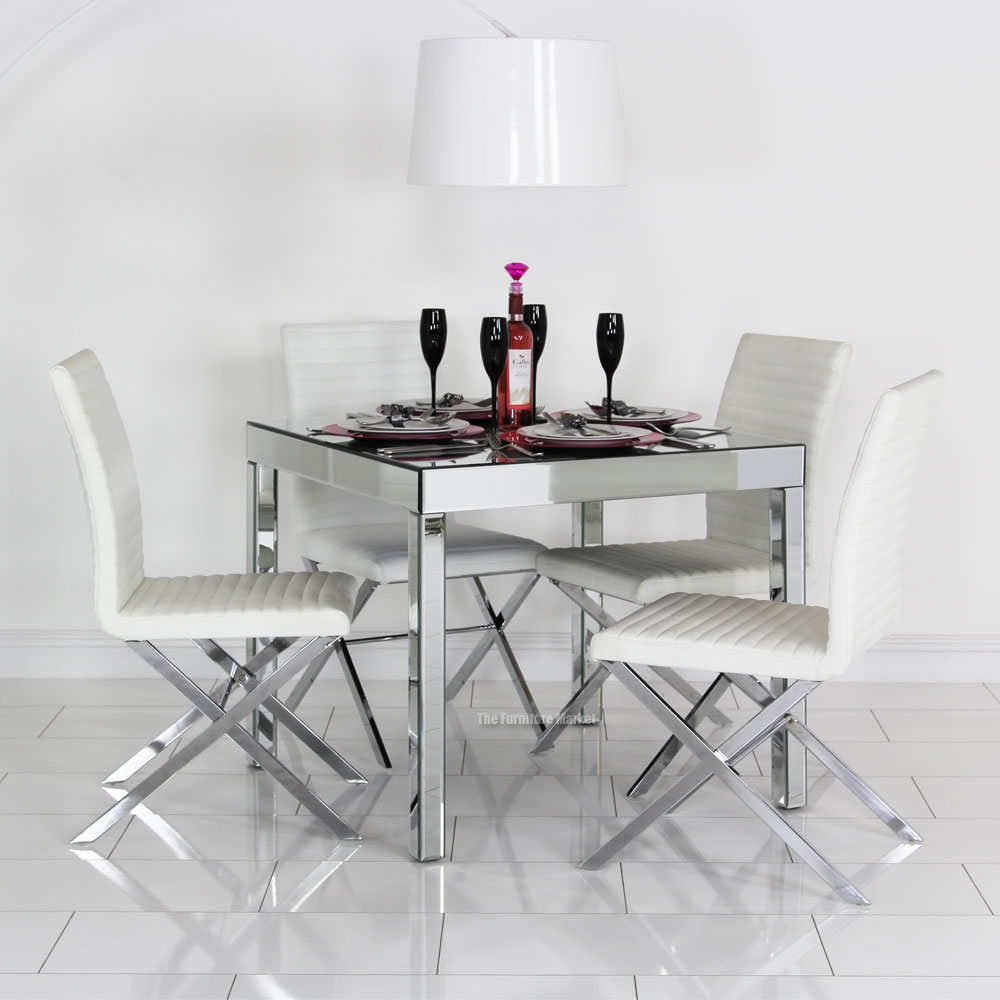 Dining Room Mirrored Table Rectangle Tables That Seat 6 Round Throughout Venetian Mirror Table (Image 3 of 15)