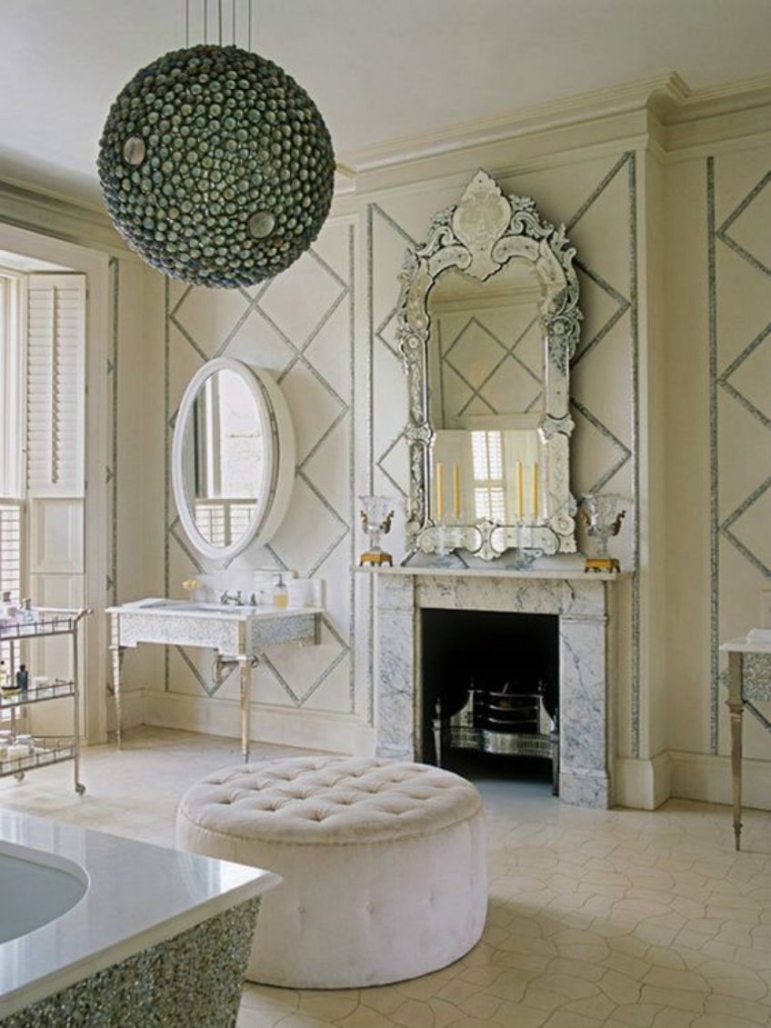 Discover The True Beauty Of Antique Luxury With Venetian Mirrors Within Venetian Mirror Bathroom (Image 8 of 15)