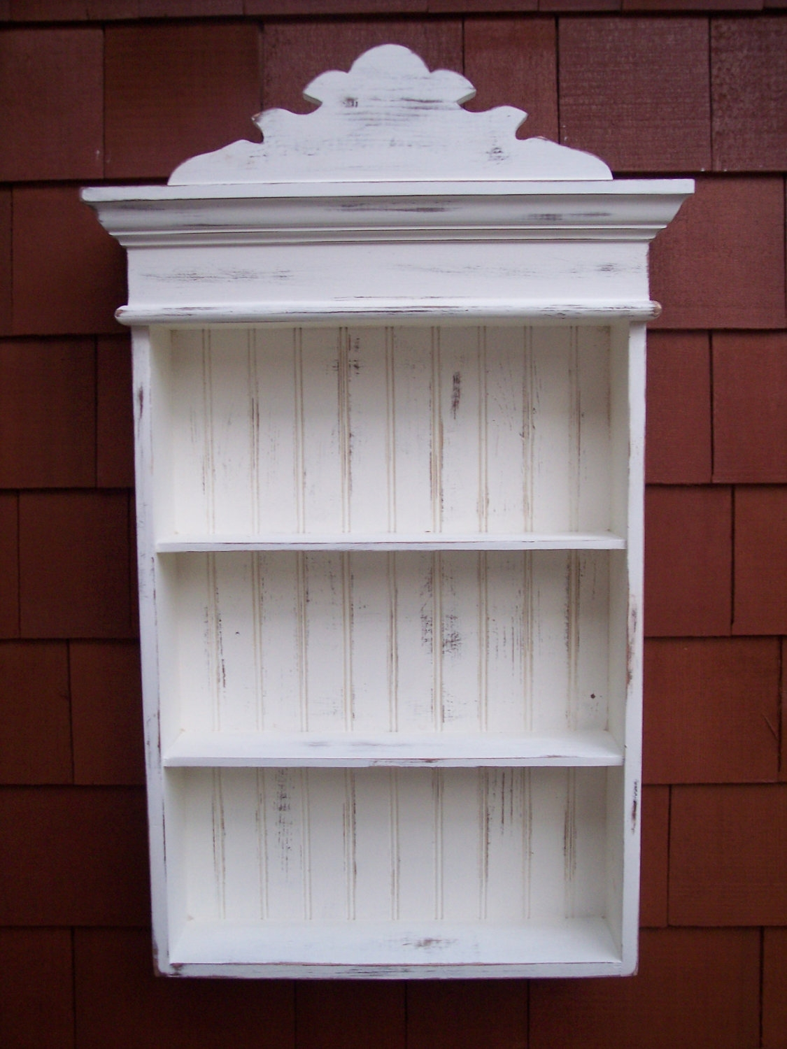 Distressed White Cabinet Bathroom Cabinet Kitchen Cabinet Pertaining To Shabby Chic Mirror With Shelf (Image 5 of 15)