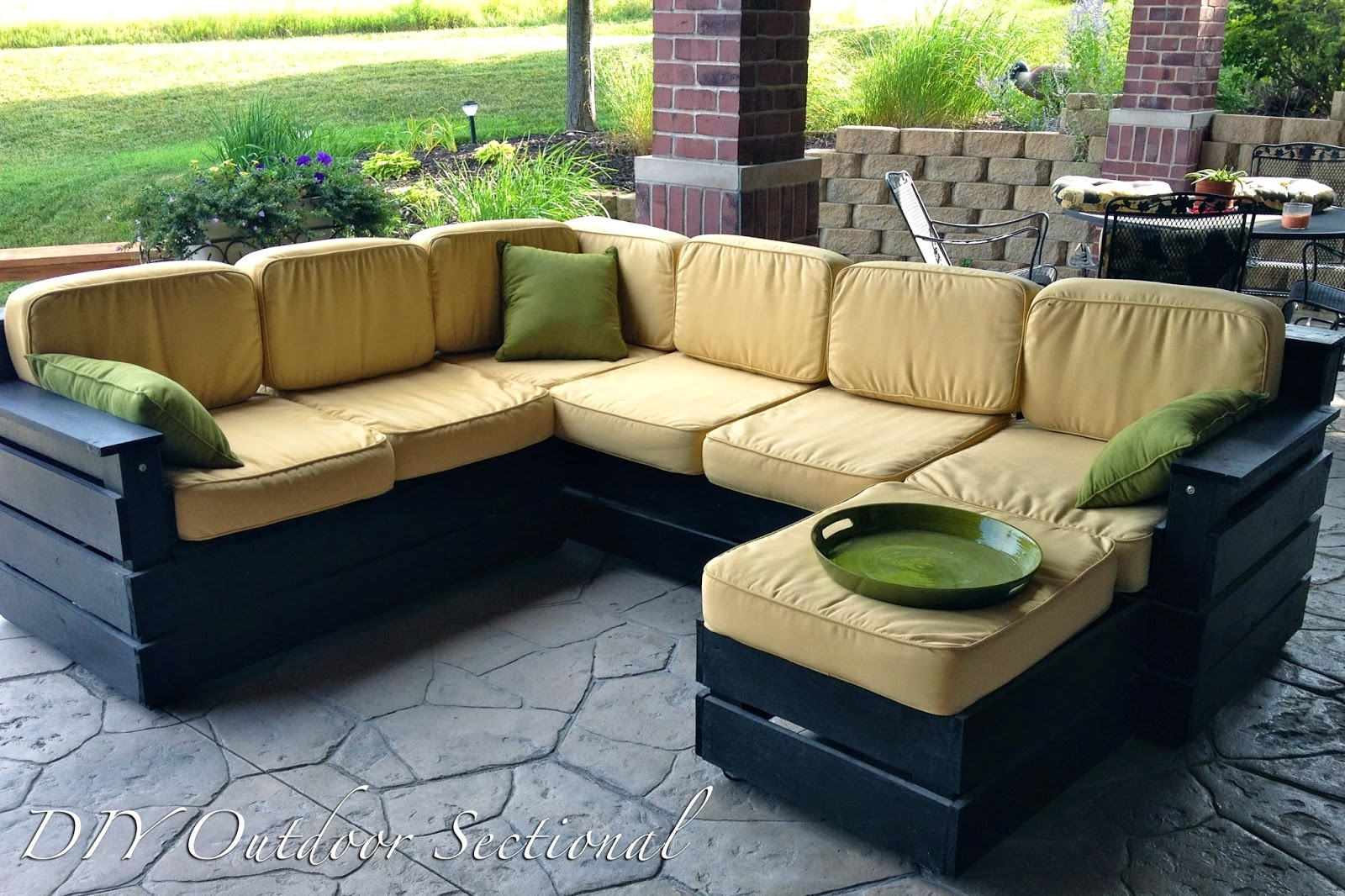 Diy Outdoor Sectional Build It Yourself Out Of Regular Wood From Pertaining To Diy Sectional Sofa (Image 8 of 15)