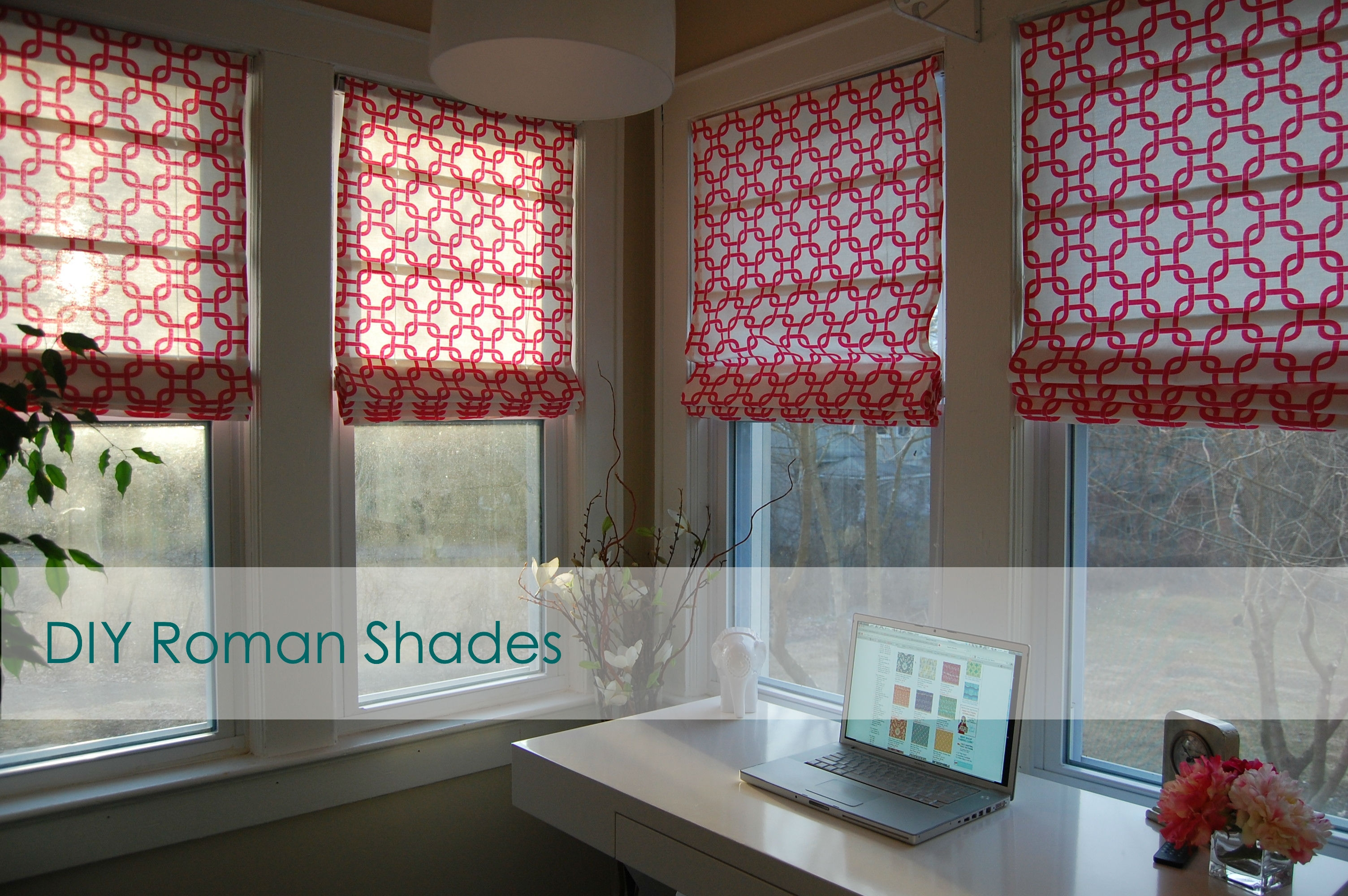 Diy Roman Shades Pertaining To Pre Made Roller Blinds (Image 9 of 15)