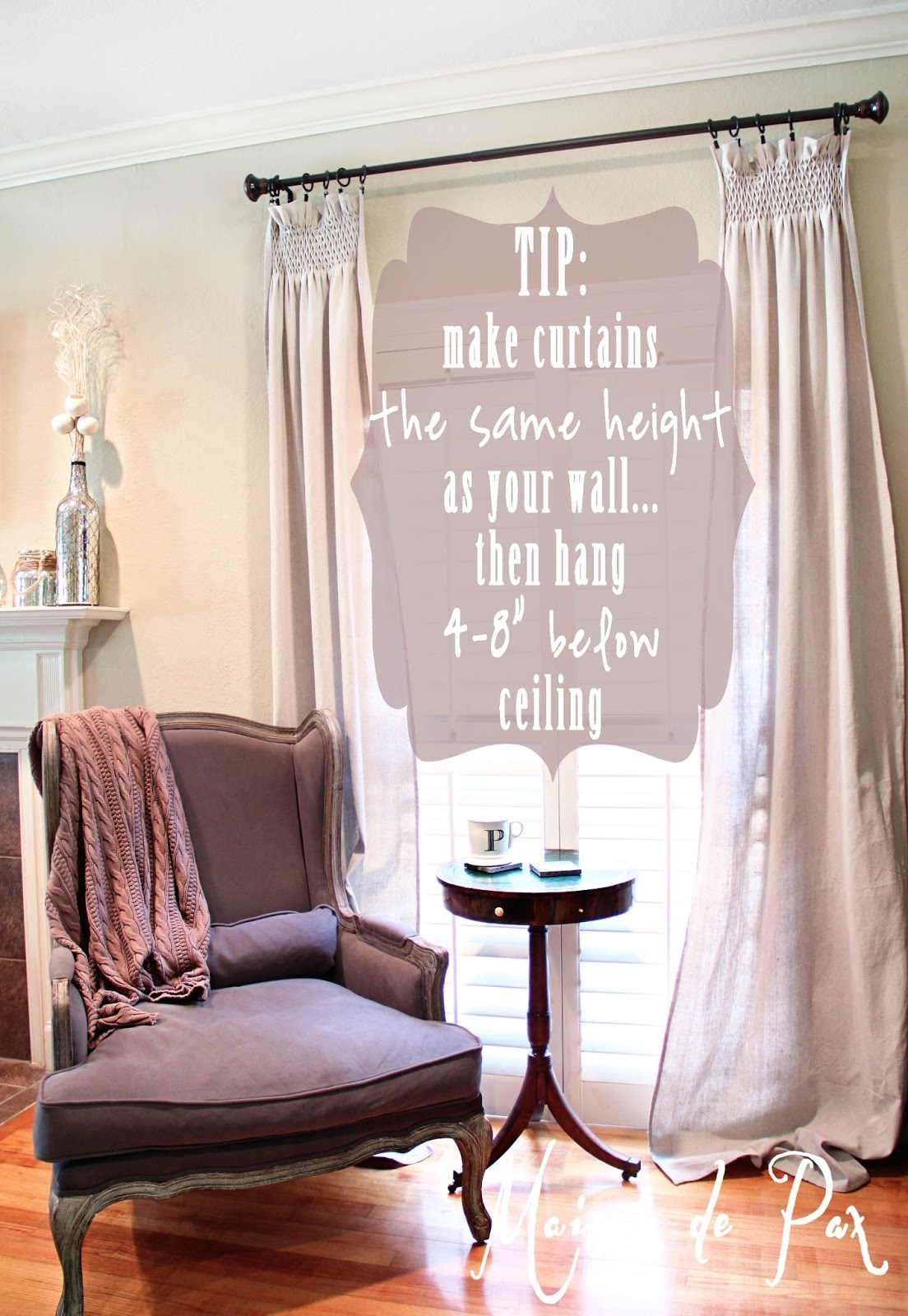 Diy Smocked Curtains Maison De Pax With Regard To 8 Ft Drop Curtains (Image 9 of 15)