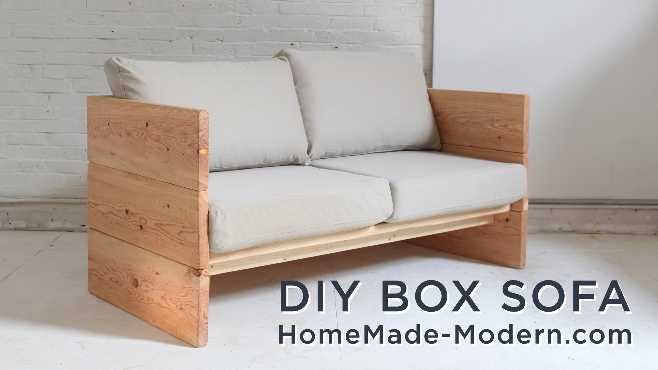 Diy Sofa Made Out Of 2x10s Youtube With Regard To Diy Sleeper Sofa (View 2 of 15)