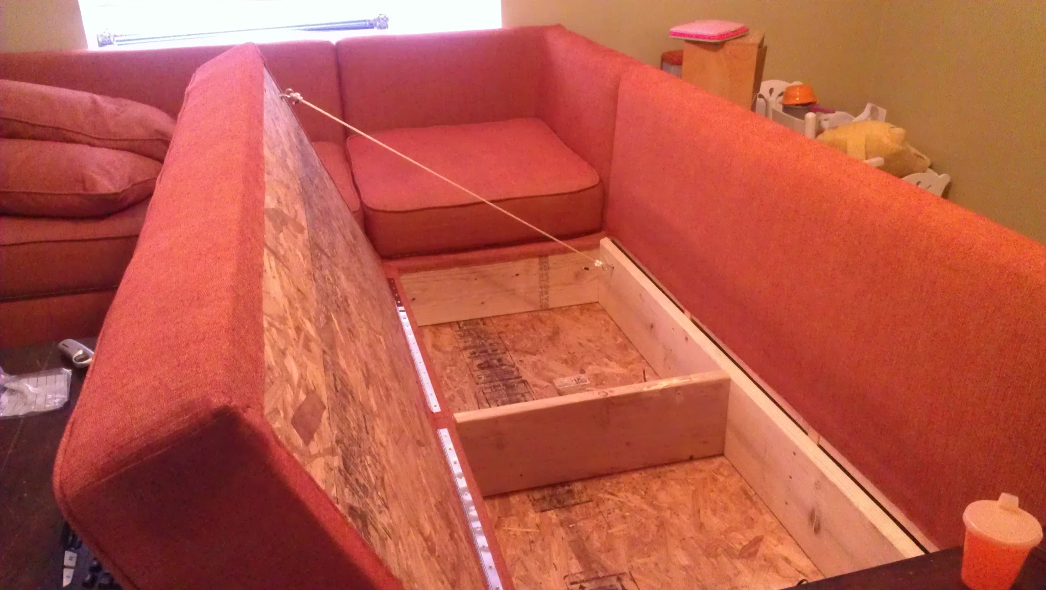 Diy Storage Sectional Free Plans Also From Ana White Also Within Diy Sofa Frame (Image 8 of 15)