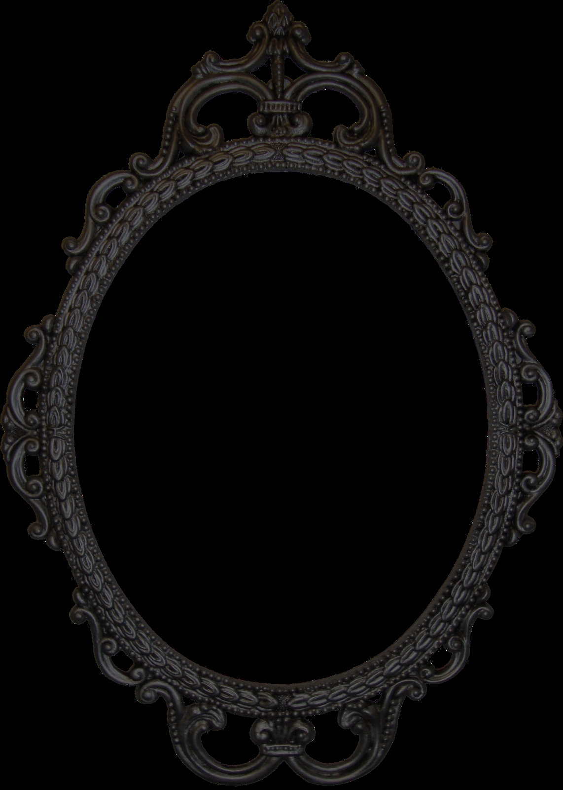 Doodle Craft Free Digital Antique Photo Frames Pictures In Black Oval Mirror (Image 4 of 15)