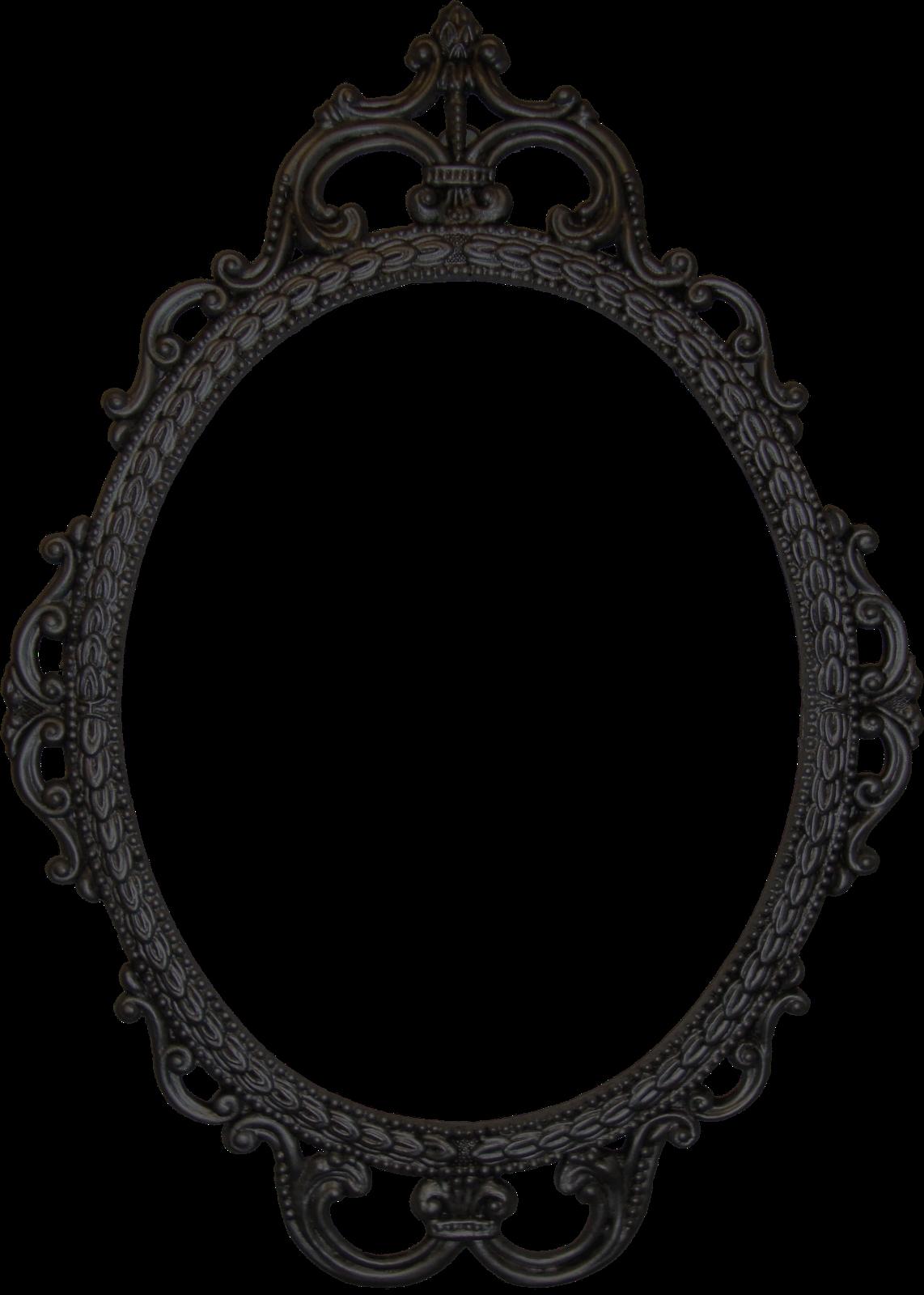 Doodle Craft Free Digital Antique Photo Frames Pictures Regarding Ornate Black Mirror (Image 6 of 15)