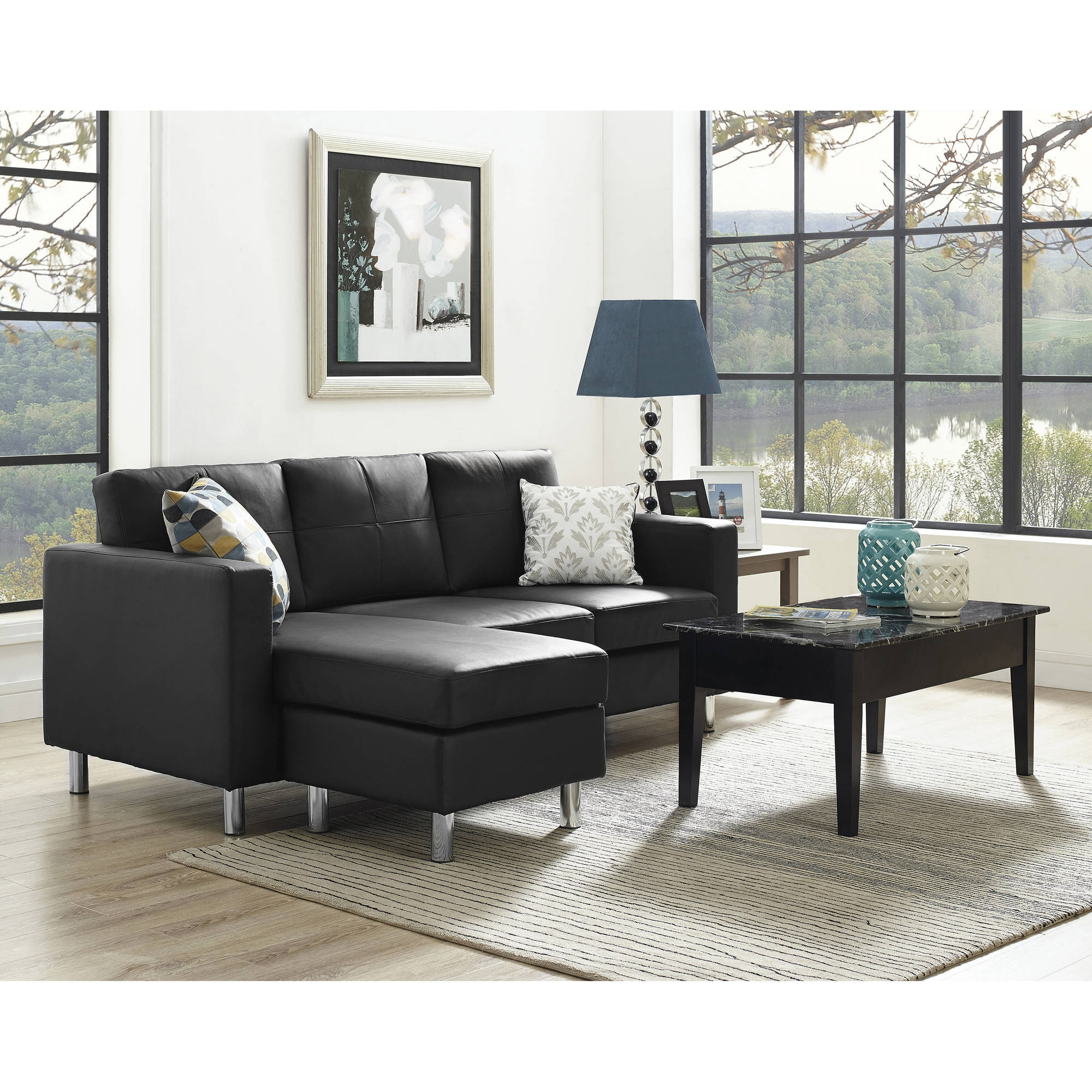Dorel Living Small Spaces Configurable Sectional Sofa Multiple For Small Sectional Sofa (Image 3 of 15)