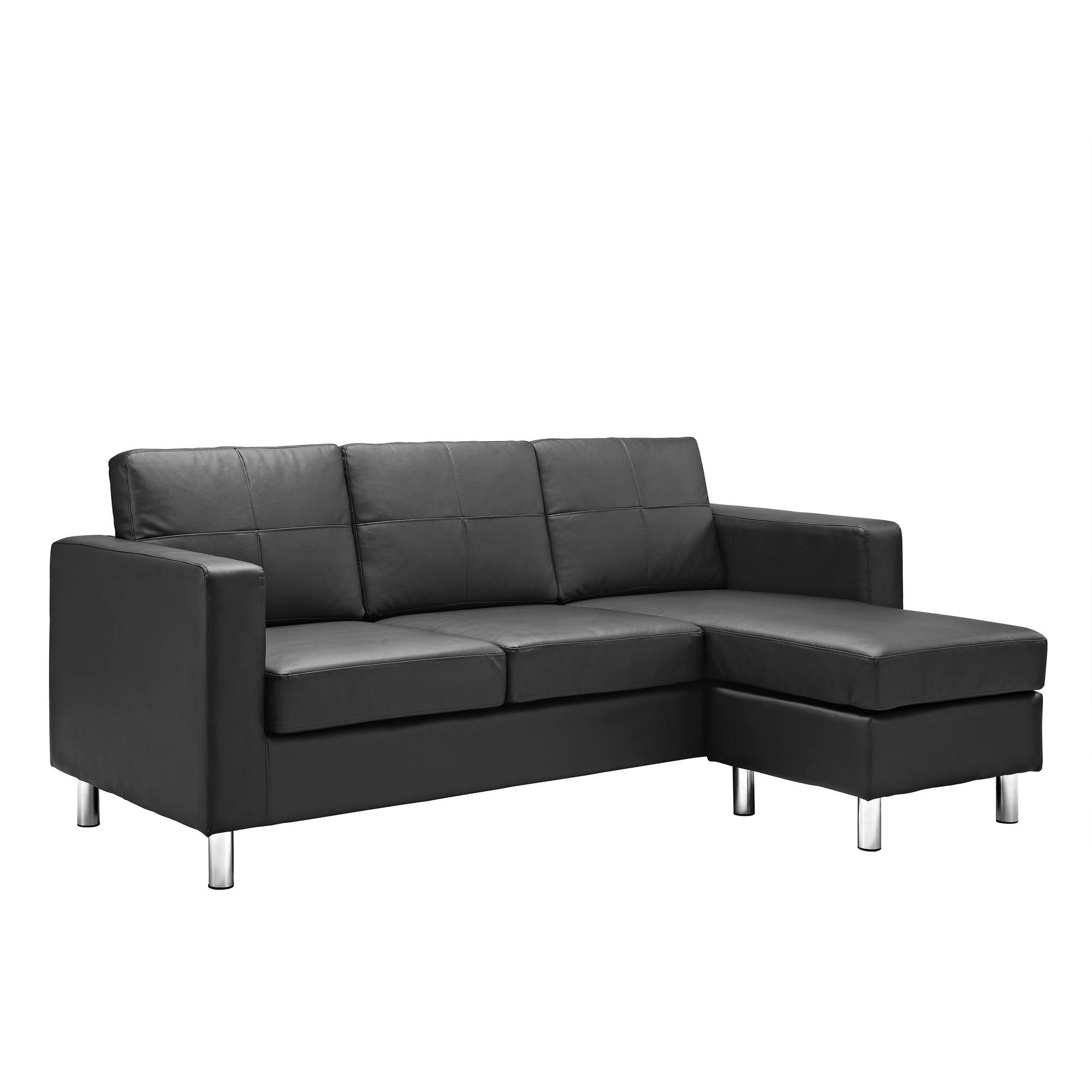 Dorel Living Small Spaces Configurable Sectional Sofa Multiple Throughout Small Sectional Sofa (Image 4 of 15)