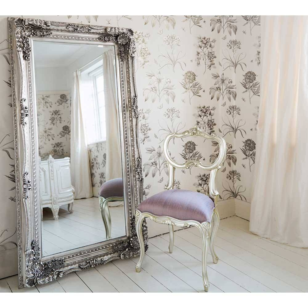 Double Framed Marquise Silver Mirror Luxury Mirror For French Full Length Mirror (Image 4 of 15)