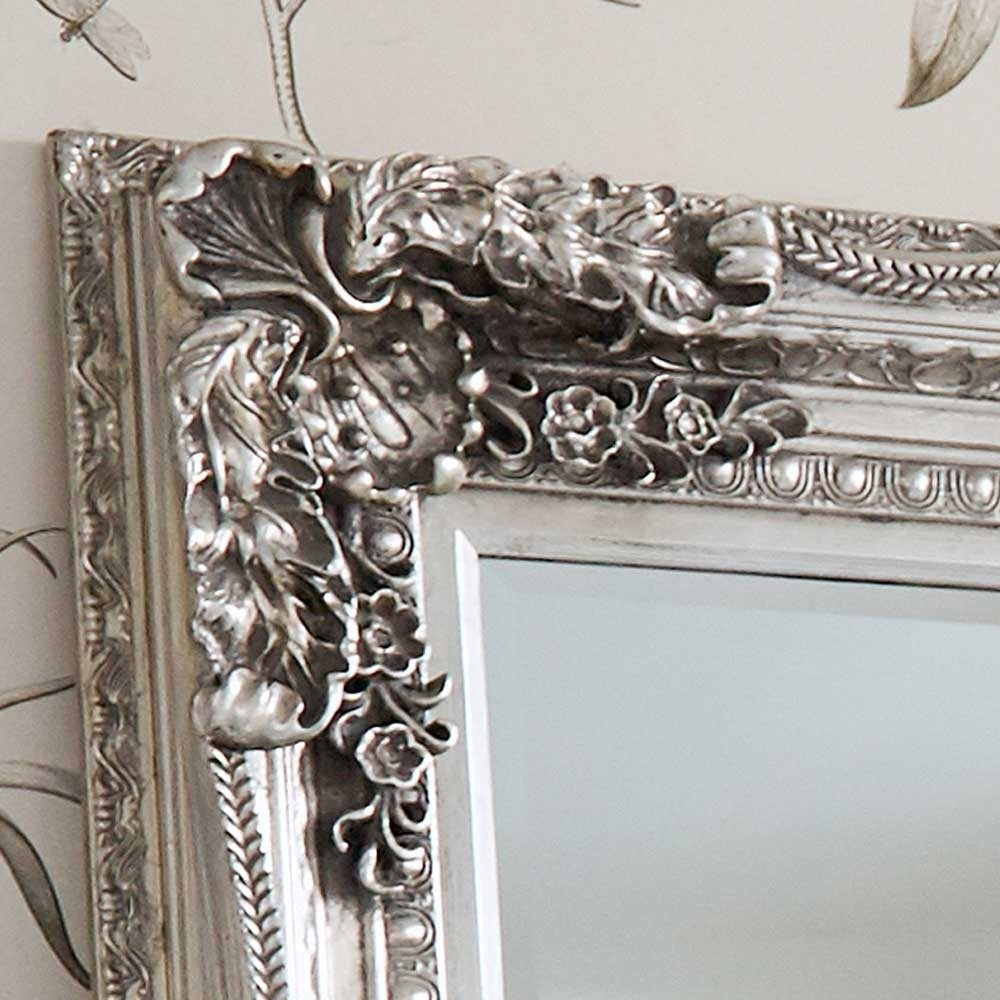 Double Framed Marquise Silver Mirror Luxury Mirror For Silver French Mirror (Image 7 of 15)