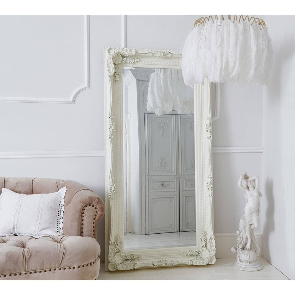 Double Framed Marquise Silver Mirror Luxury Mirror With Full Length French Mirror (Image 3 of 15)