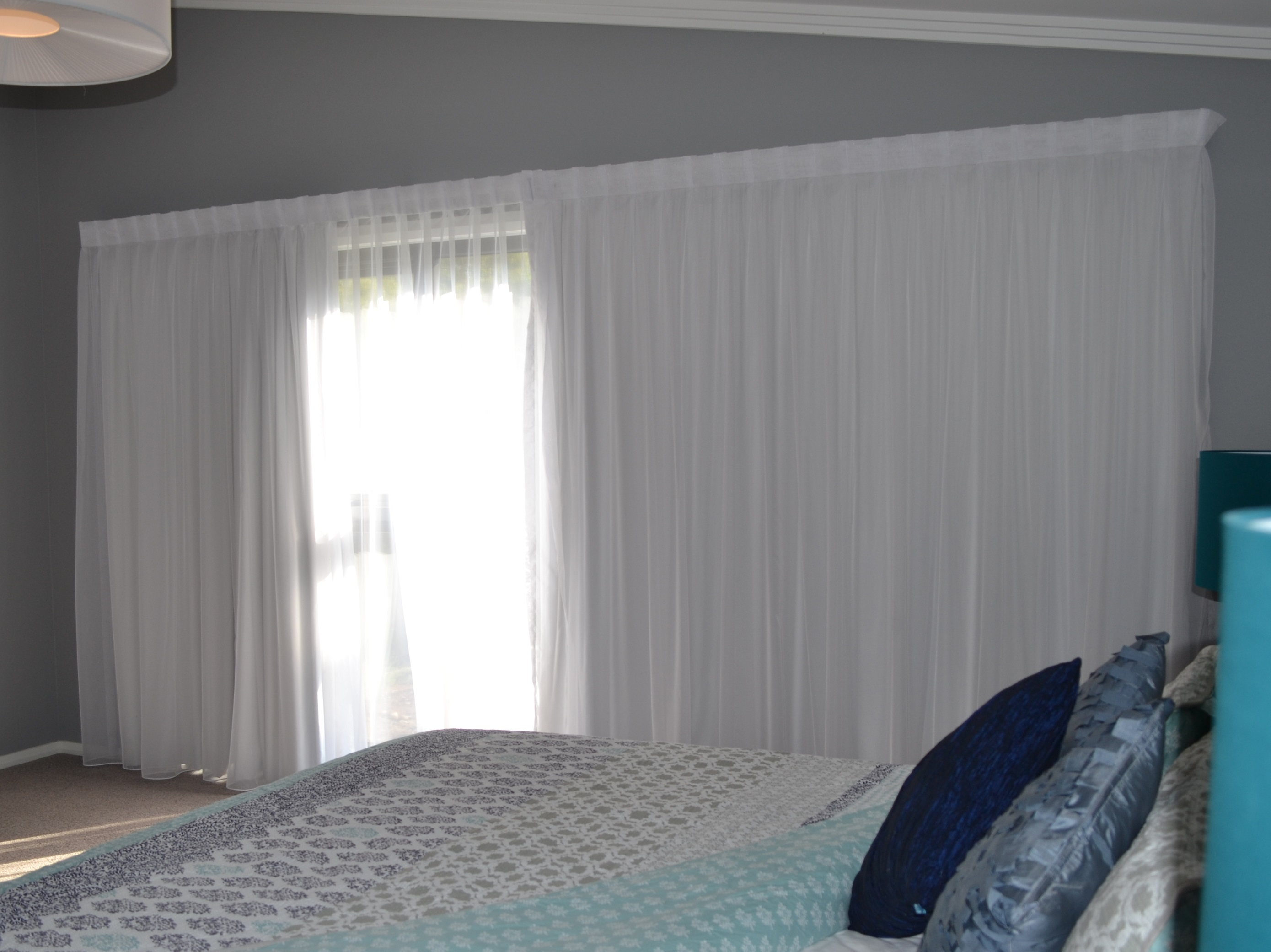 Double Track With A Sheer Curtain At The Front With A Lining At Inside Double Lined Curtains (Image 8 of 15)