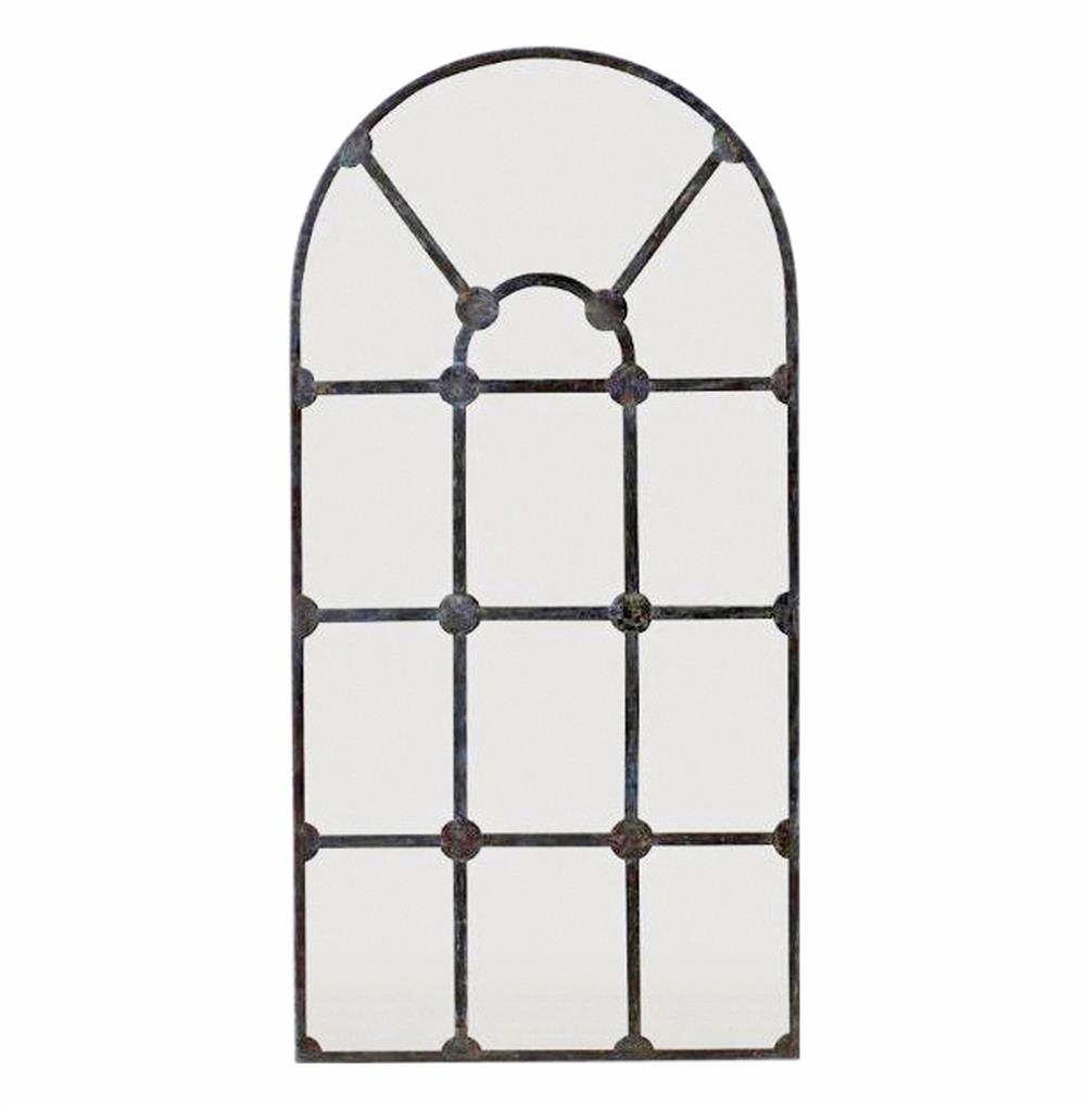 Drake French Country Rosette Metal Framework Large Mirror Kathy In Large Metal Mirror (Image 2 of 15)