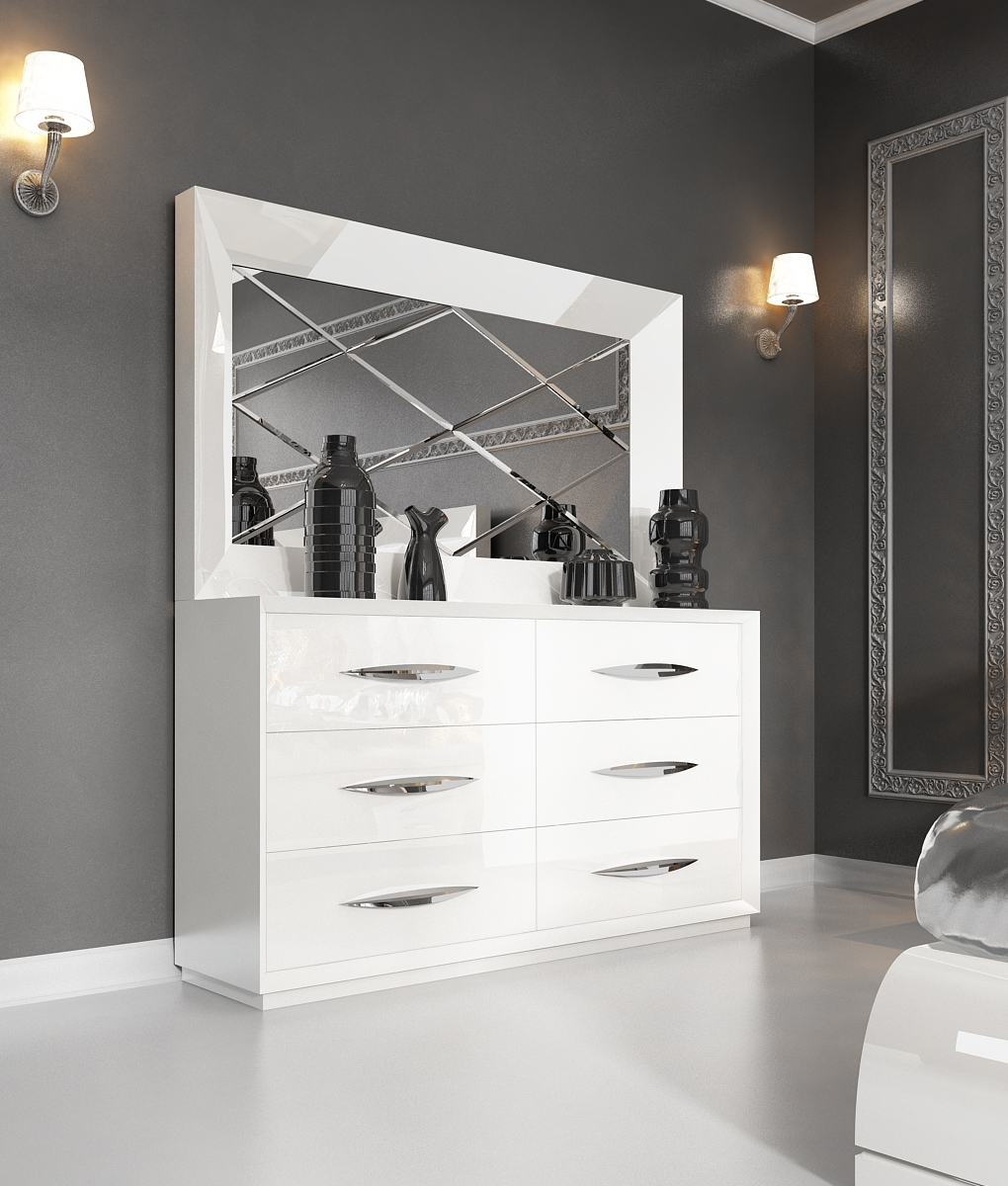 Dressers Astonishing White Modern Dressers Design Collection Throughout Contemporary White Mirror (View 6 of 15)