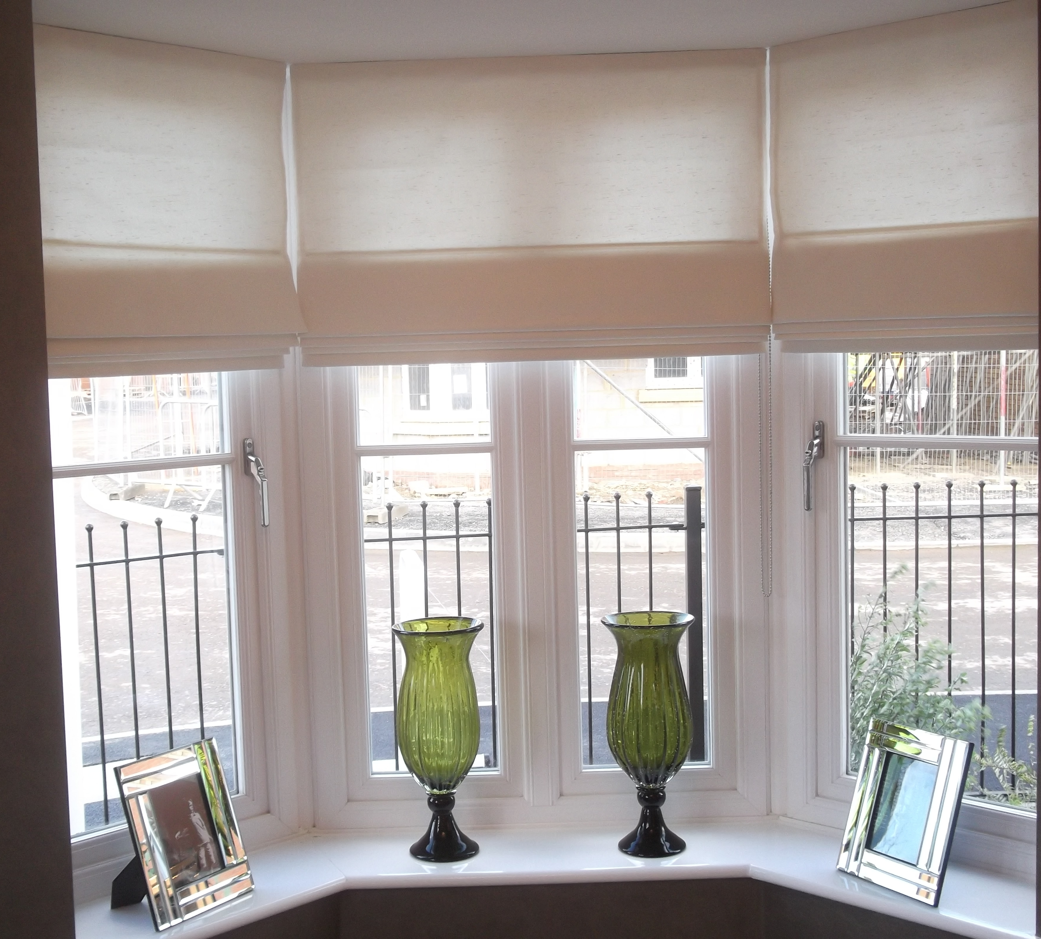 Dressing A Square Bay Window Is Quite A Challenge But When Regarding Roman Blinds On Bay Windows (Image 4 of 15)