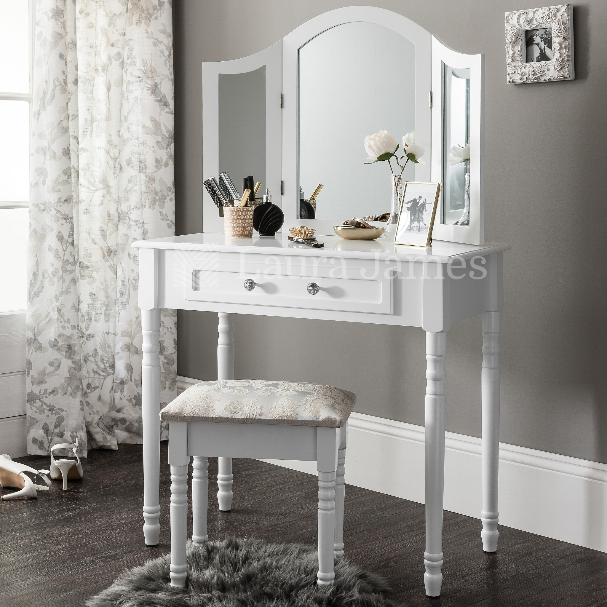 Dressing Tables Ebay Within Free Standing Dressing Table Mirrors (Image 7 of 15)