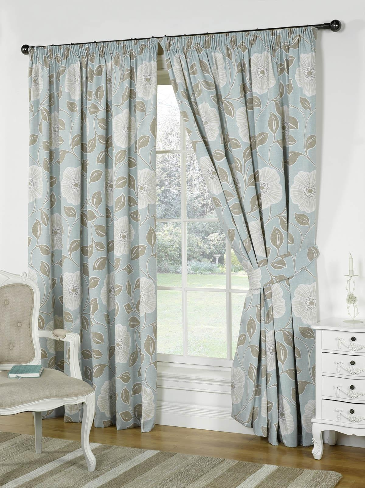 Duck Egg Blackout Curtains Within Duck Egg Blue Blackout Curtains (Image 3 of 15)