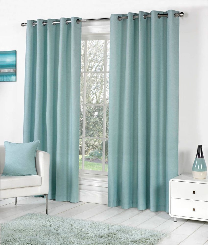 Duck Egg Blue Blackout Curtains For Duck Egg Blue Blackout Curtains (Image 4 of 15)