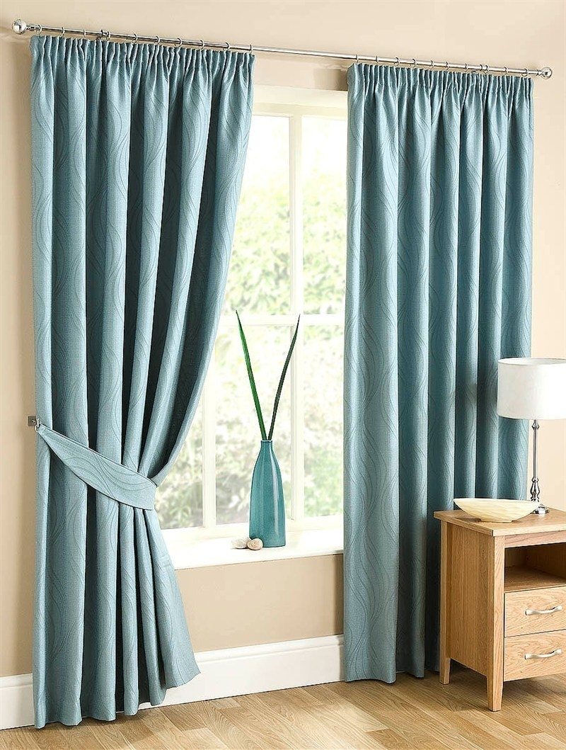 Duck Egg Blue Blackout Curtains With Regard To Duck Egg Blue Blackout Curtains (Image 5 of 15)