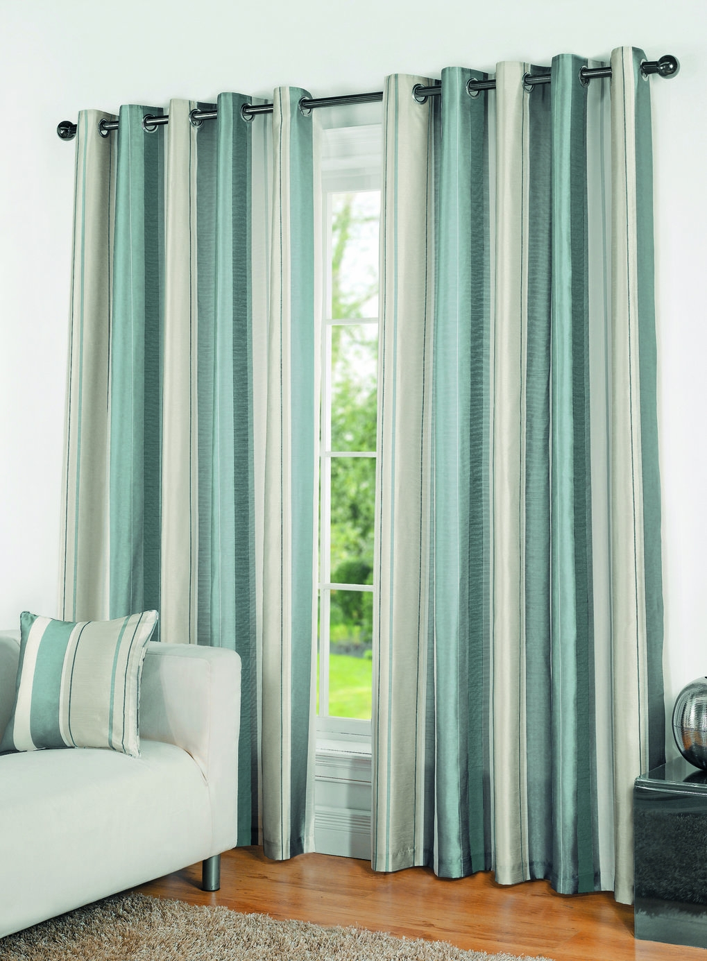 Duck Egg Casa Stripe Curtains Bhs Home Decor Pinterest For Duck Egg Blue Striped Curtains (View 7 of 15)
