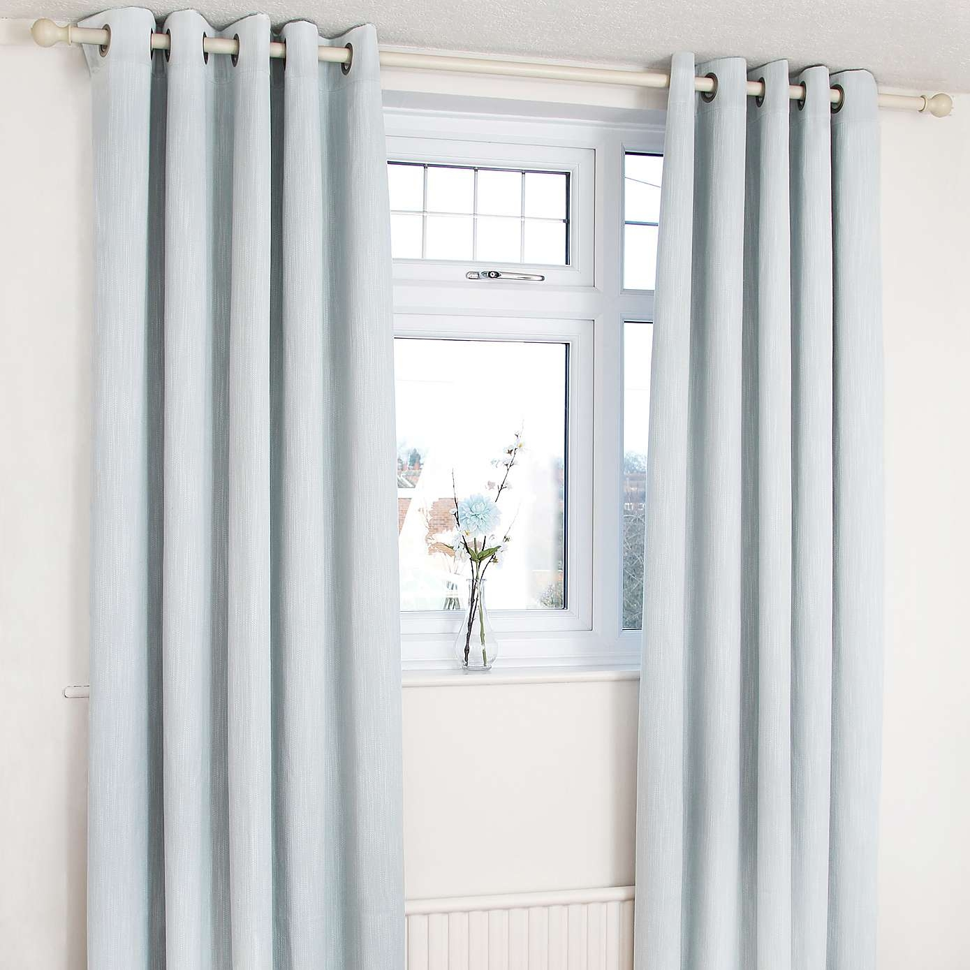 Duck Egg Orion Blackout Eyelet Curtains Dunelm Country Cottage Inside Duck Egg Blue Blackout Curtains (View 14 of 15)