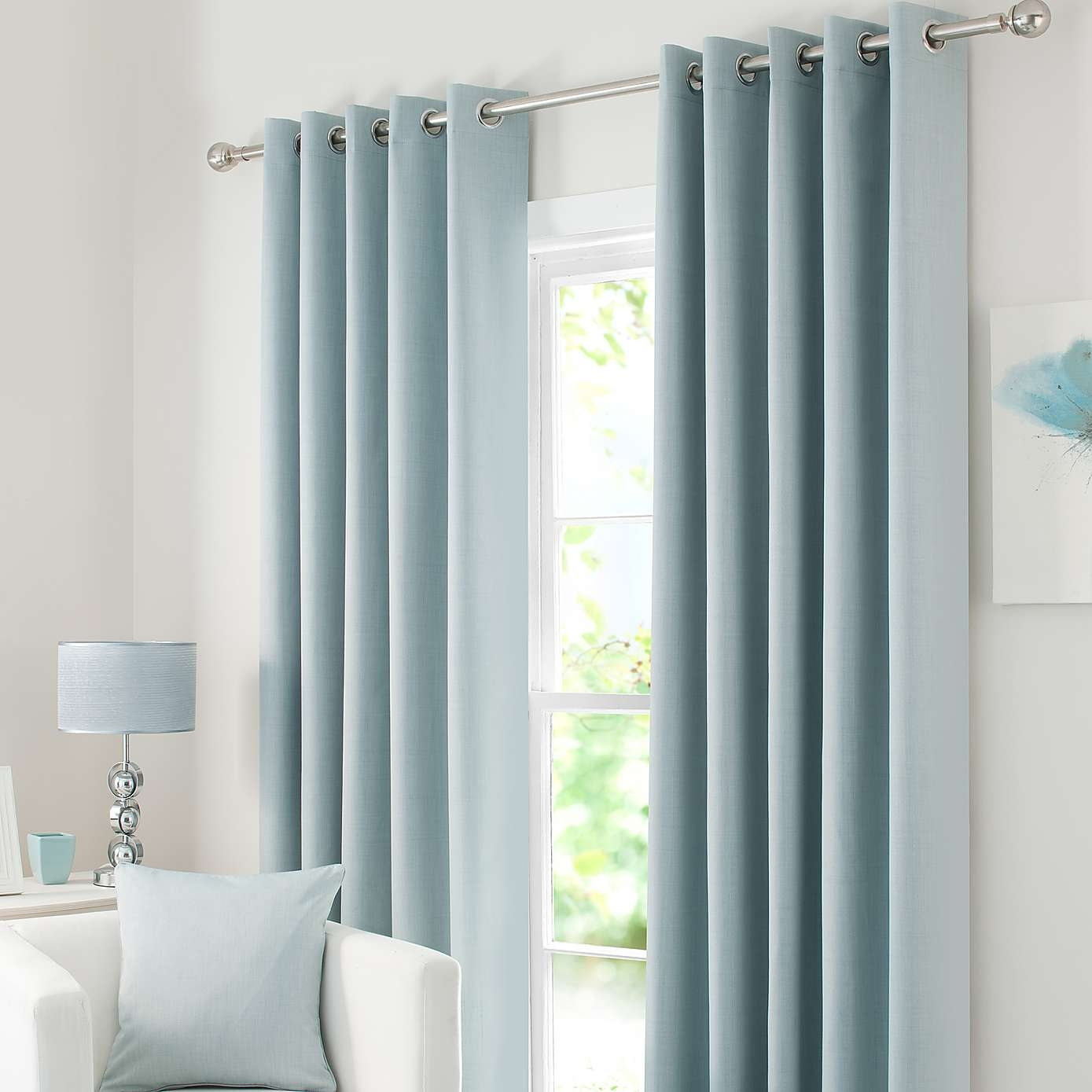 Duck Egg Solar Blackout Eyelet Curtains Dunelm Master Suite Throughout Blue Blackout Curtains Eyelet (Image 6 of 15)