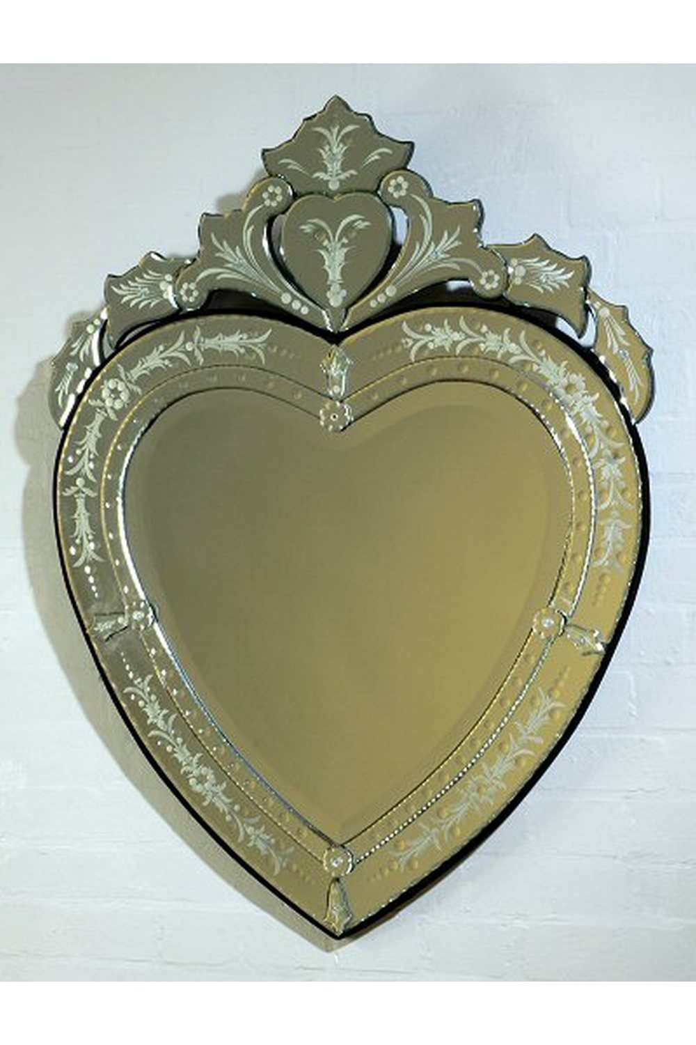 Dusx Vintage Venetian Heart Shaped Antique Style Decorative Wall In Venetian Heart Mirror (Image 5 of 15)