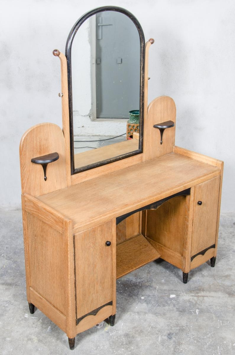 Dutch Art Deco Dressing Table With Mirror 1930s For Sale At Pamono In Art Deco Mirrored Dressing Table (Image 10 of 15)